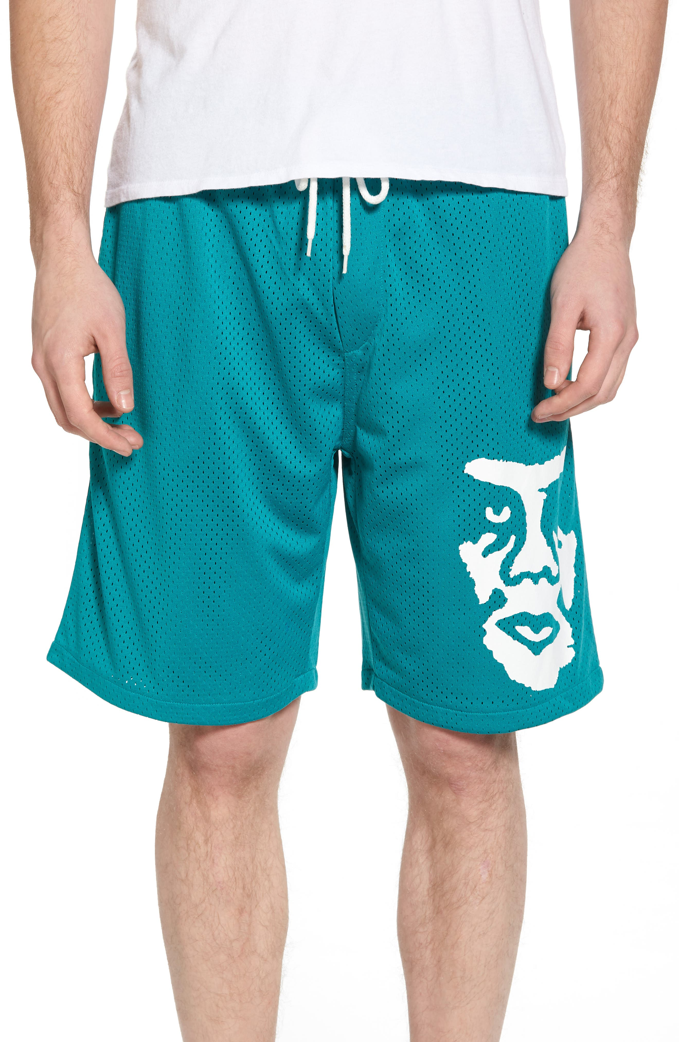 O.P.E. Athletic Shorts,                         Main,                         color, Teal