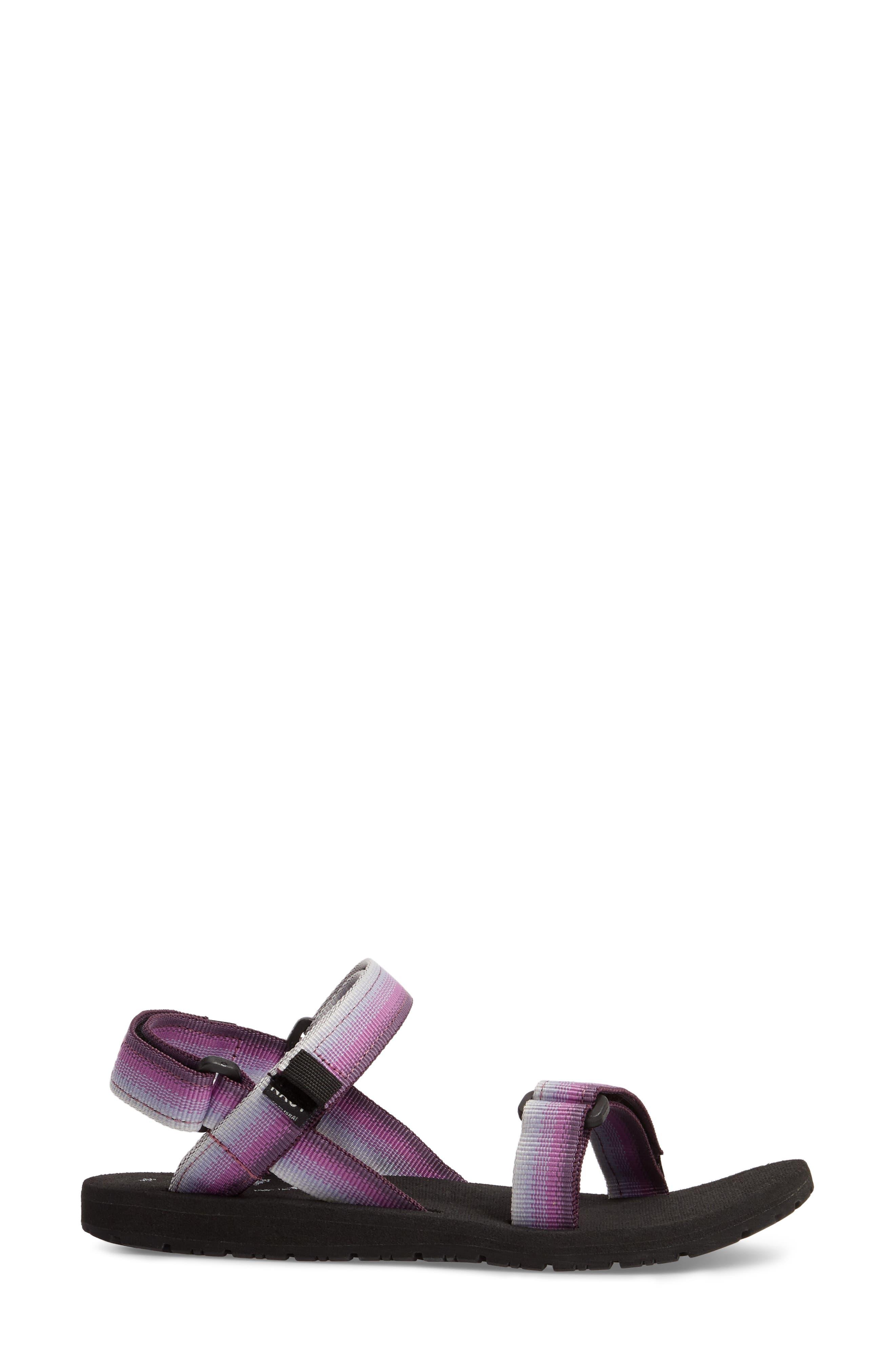 Haven Waterproof Sandal,                             Alternate thumbnail 3, color,                             Purple Sunset Fabric