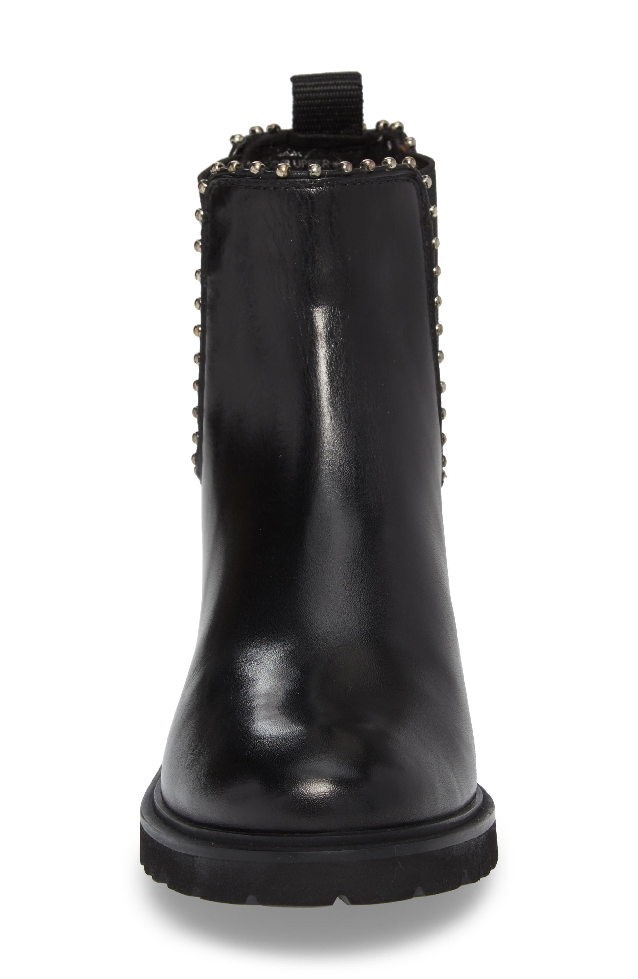 Berkley Chelsea Bootie,                             Alternate thumbnail 4, color,                             Black Leather