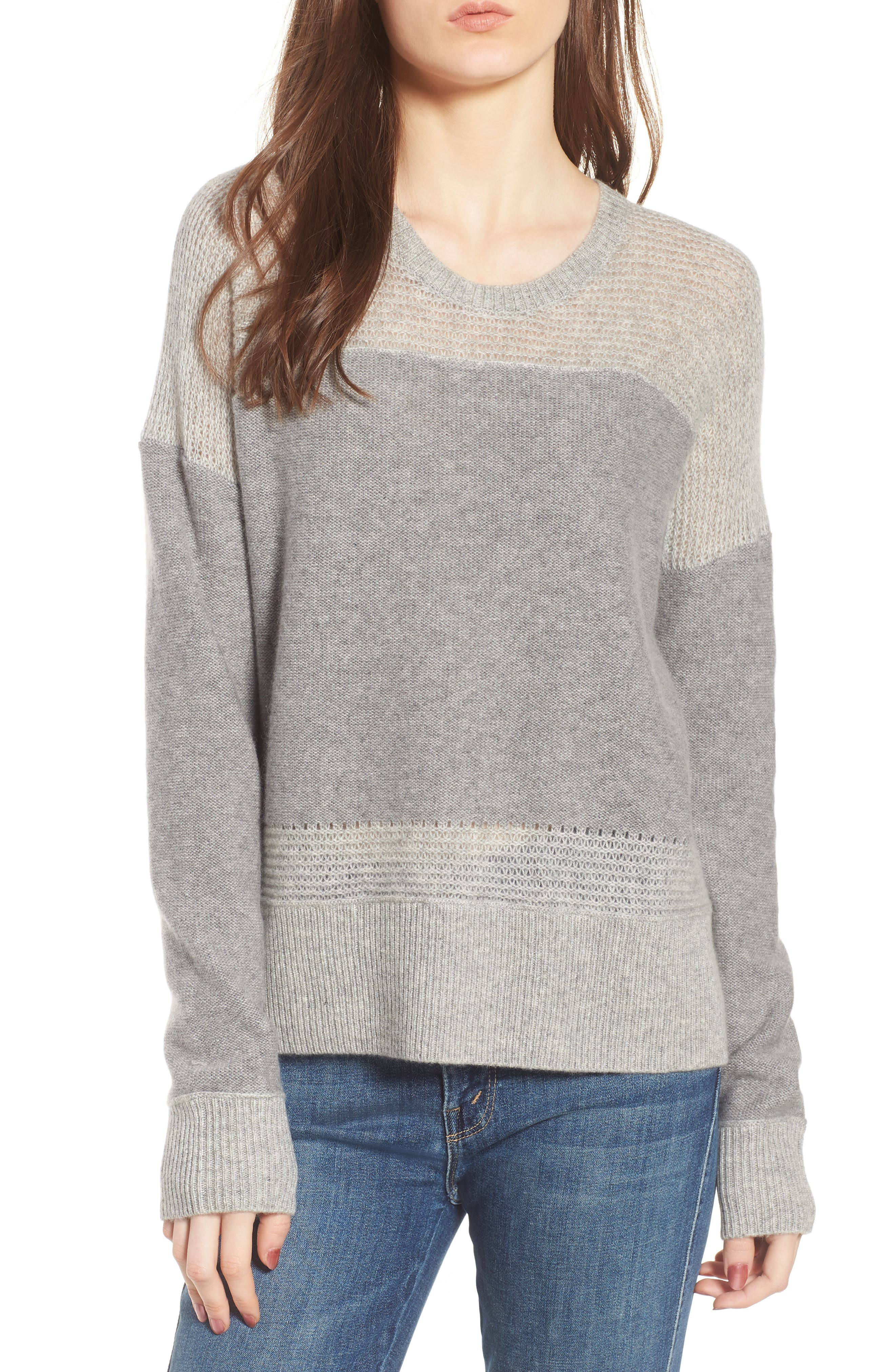 James Perse Open Stitch Cashmere Sweater