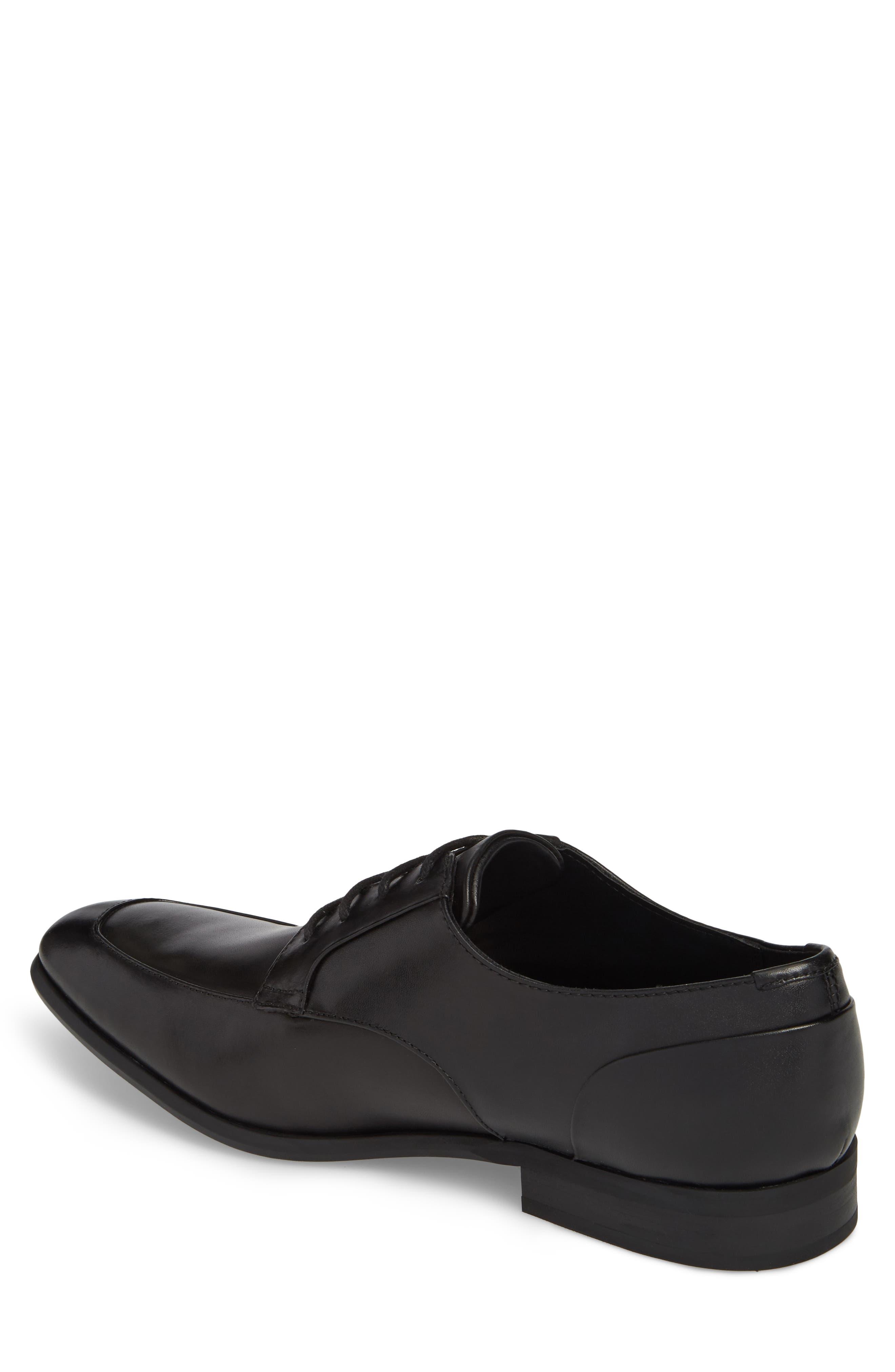 Lazarus Apron Toe Derby,                             Alternate thumbnail 2, color,                             Black Leather