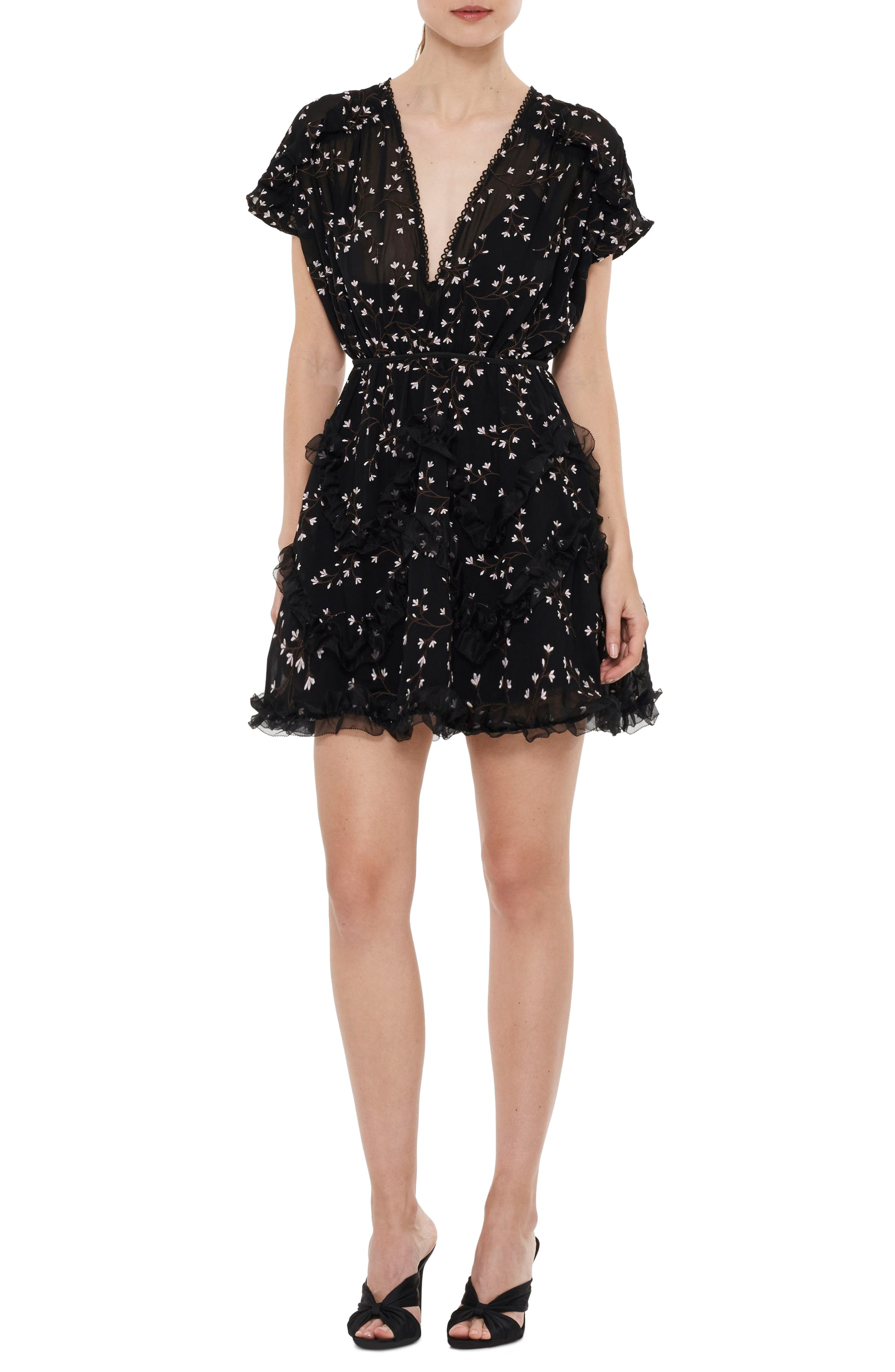 Courts Floral Minidress,                         Main,                         color, Floral Embroidery