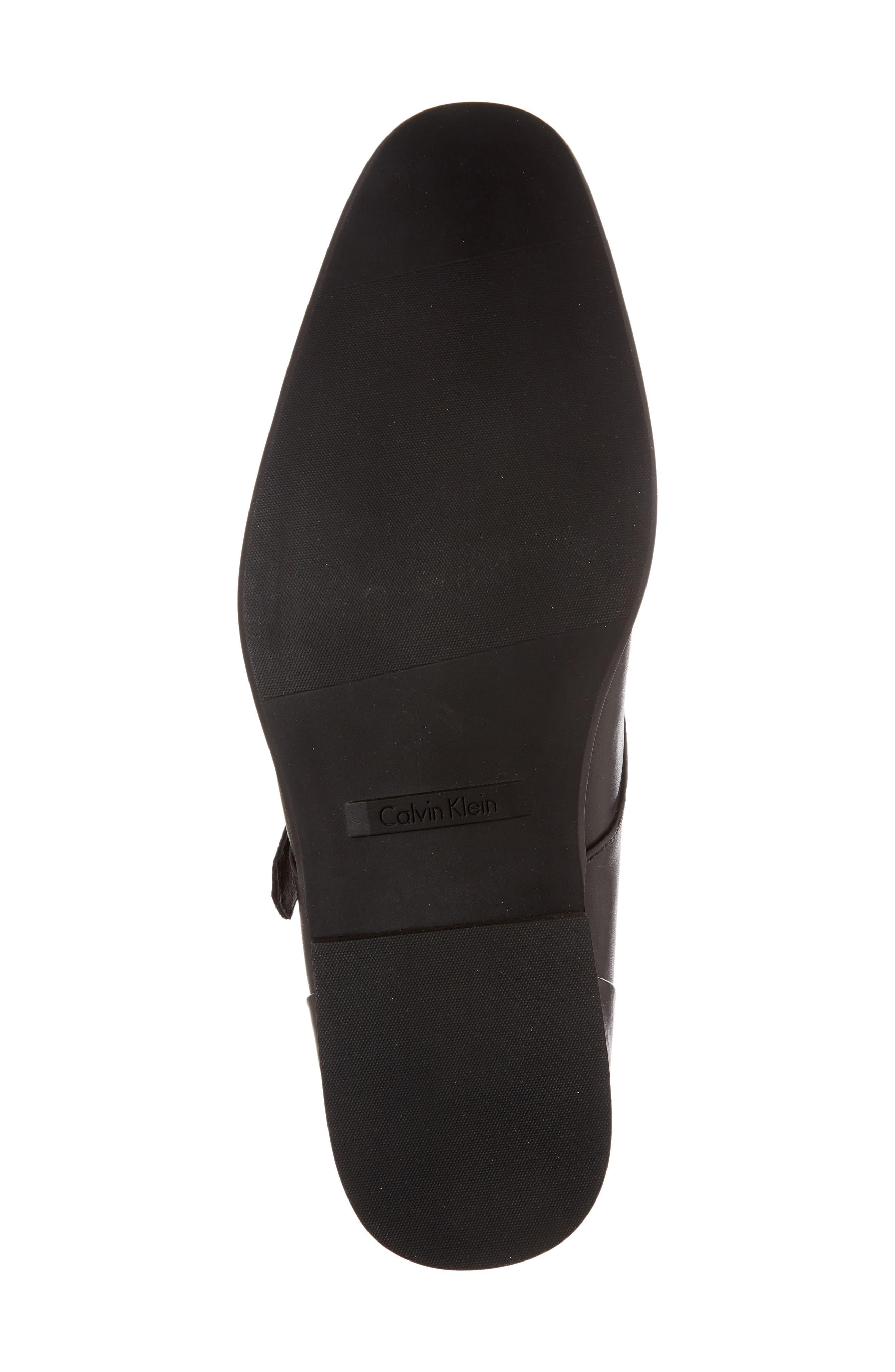 Lucus Monk Strap Shoe,                             Alternate thumbnail 6, color,                             Black Leather