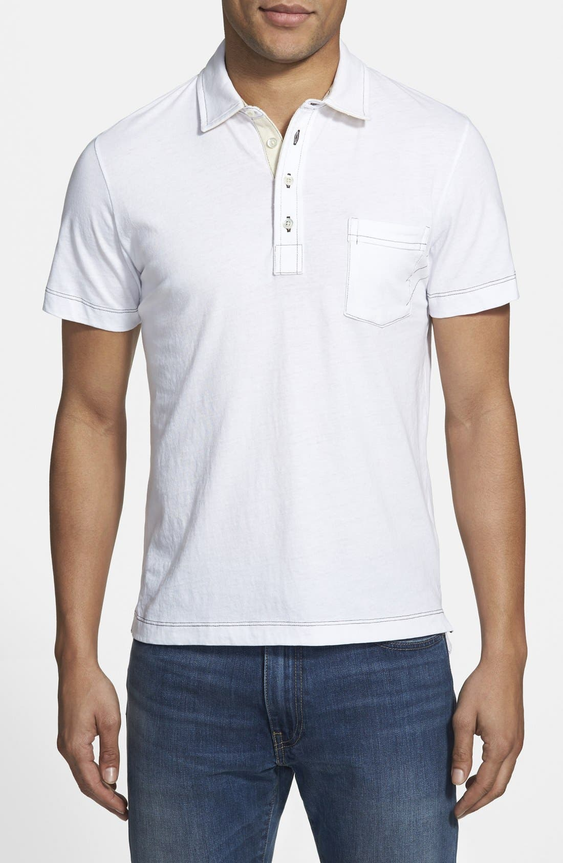Pensacola Slim Fit Polo,                         Main,                         color, True White