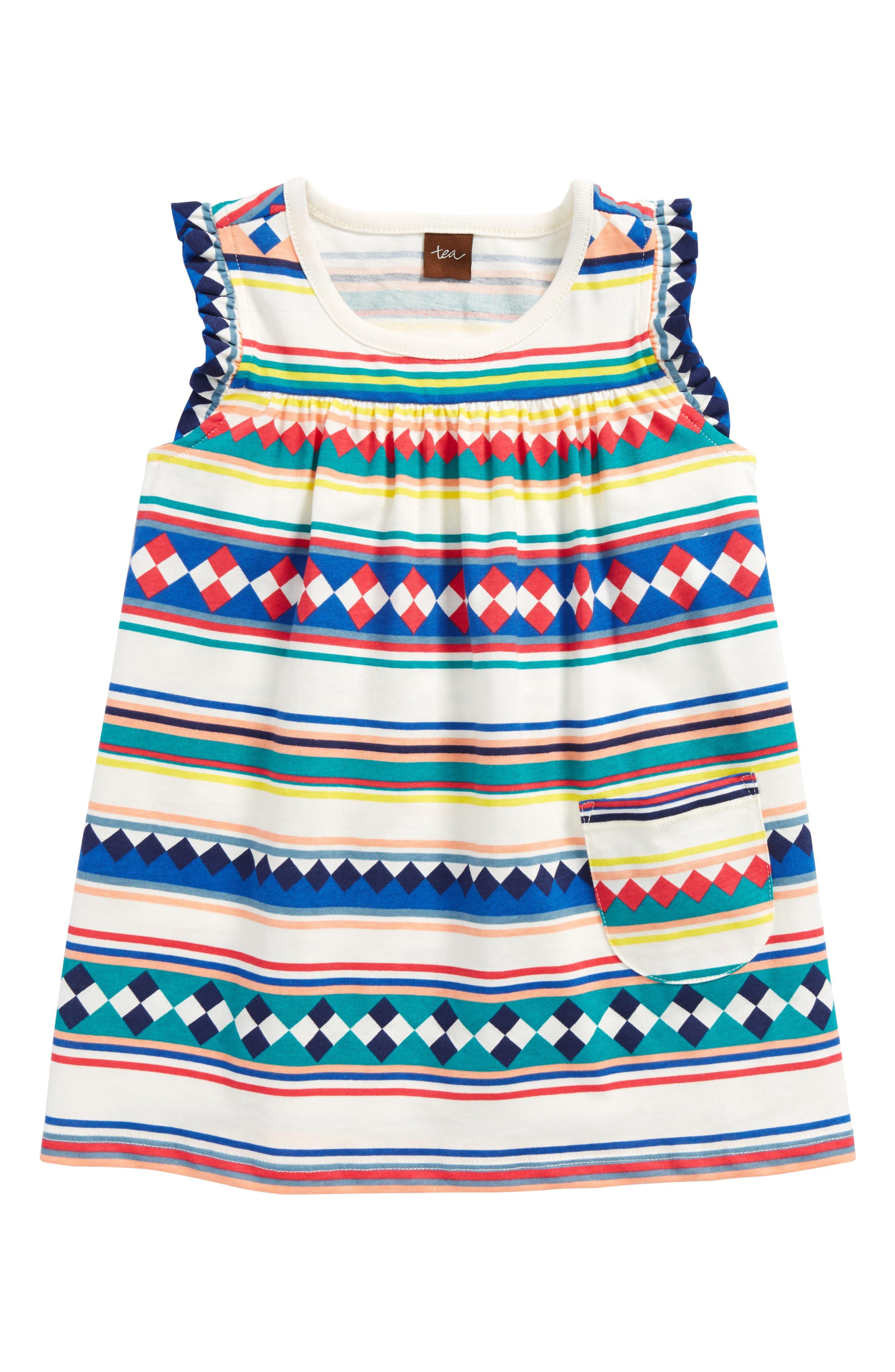 Mighty Mini Dress,                         Main,                         color, Seminole Patchwork Stripe