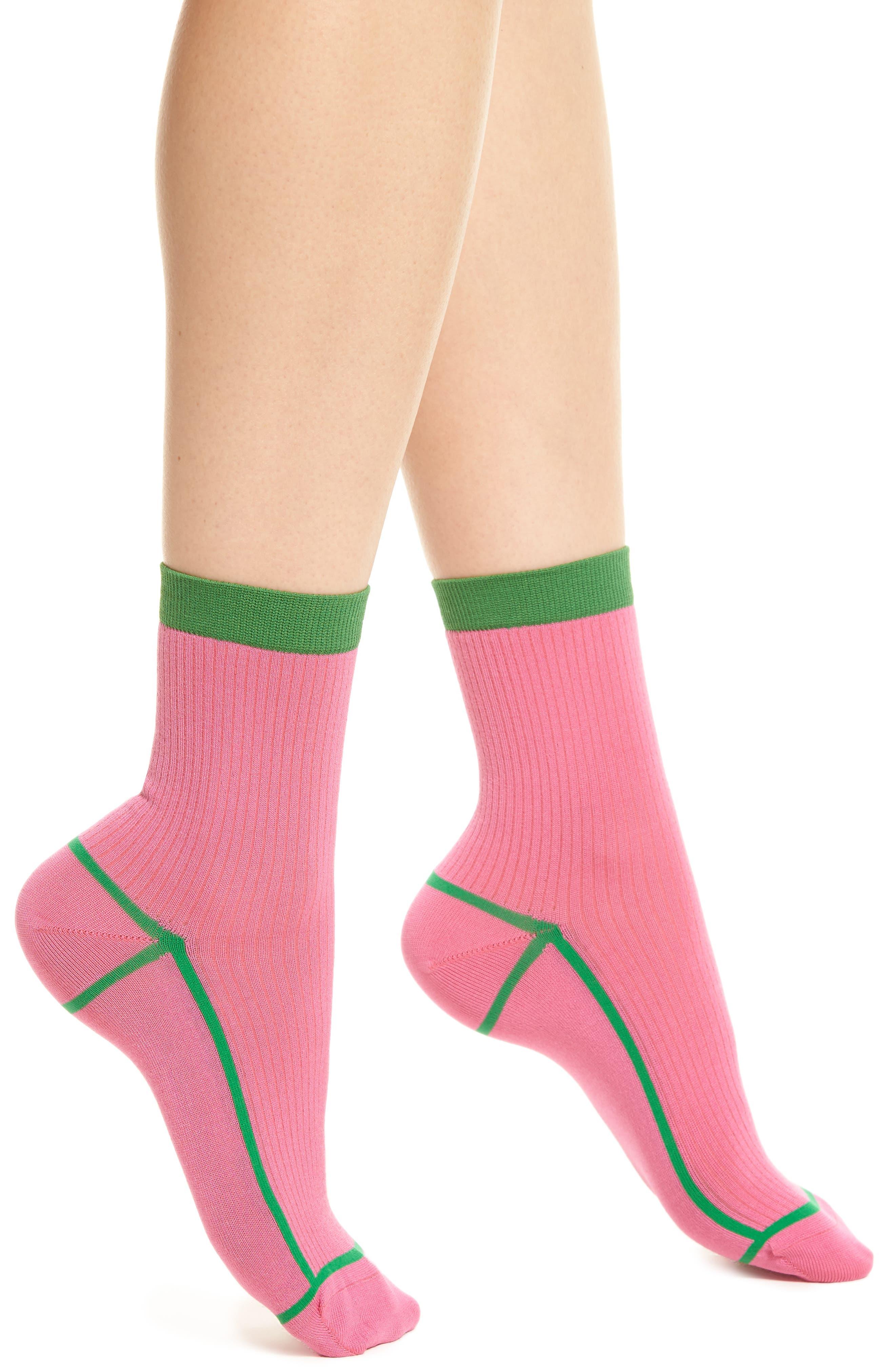 Hysteria by Happy Socks Lily Rib Ankle Socks