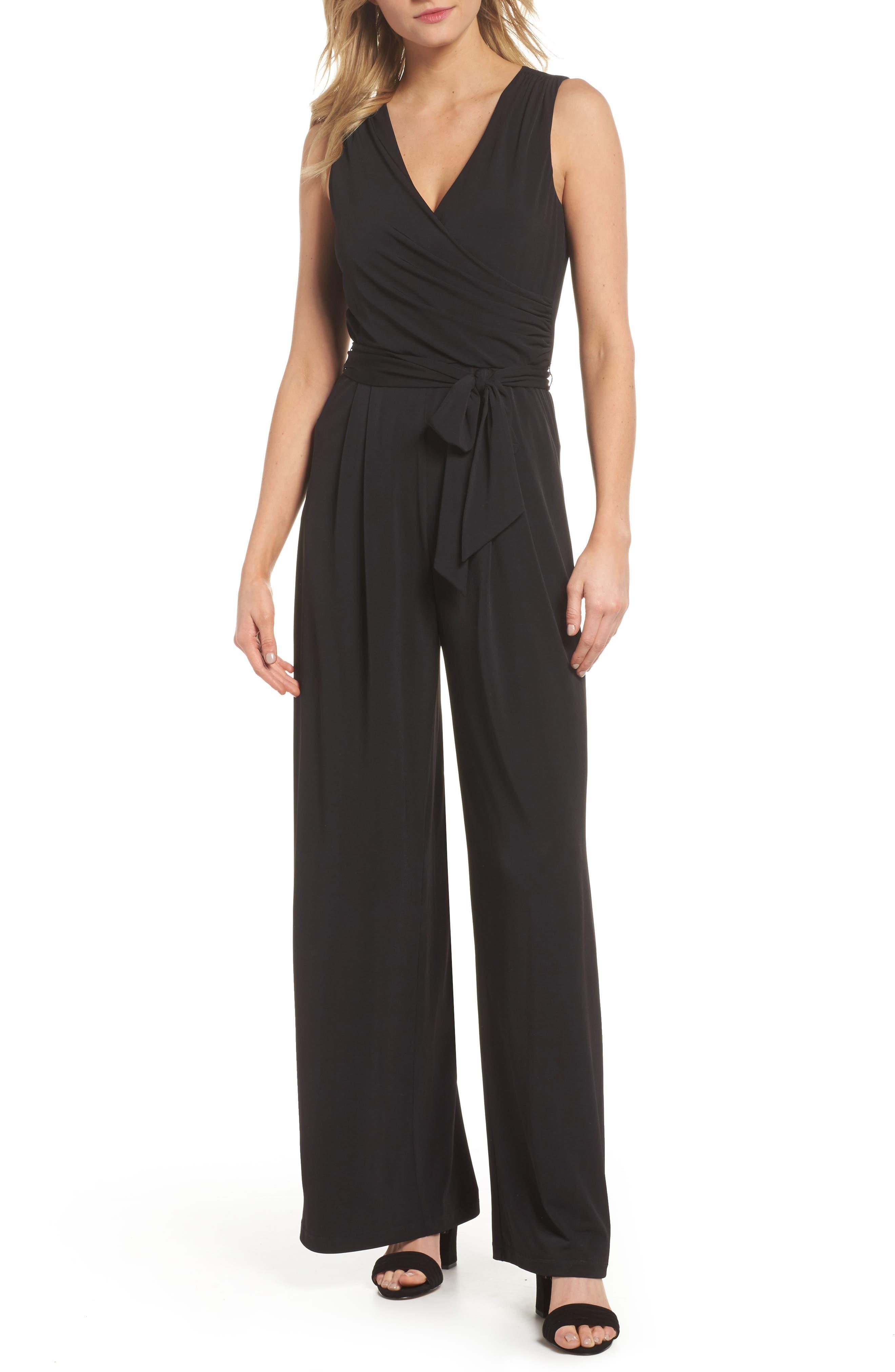 Wide Leg Jumpsuit,                         Main,                         color, Black