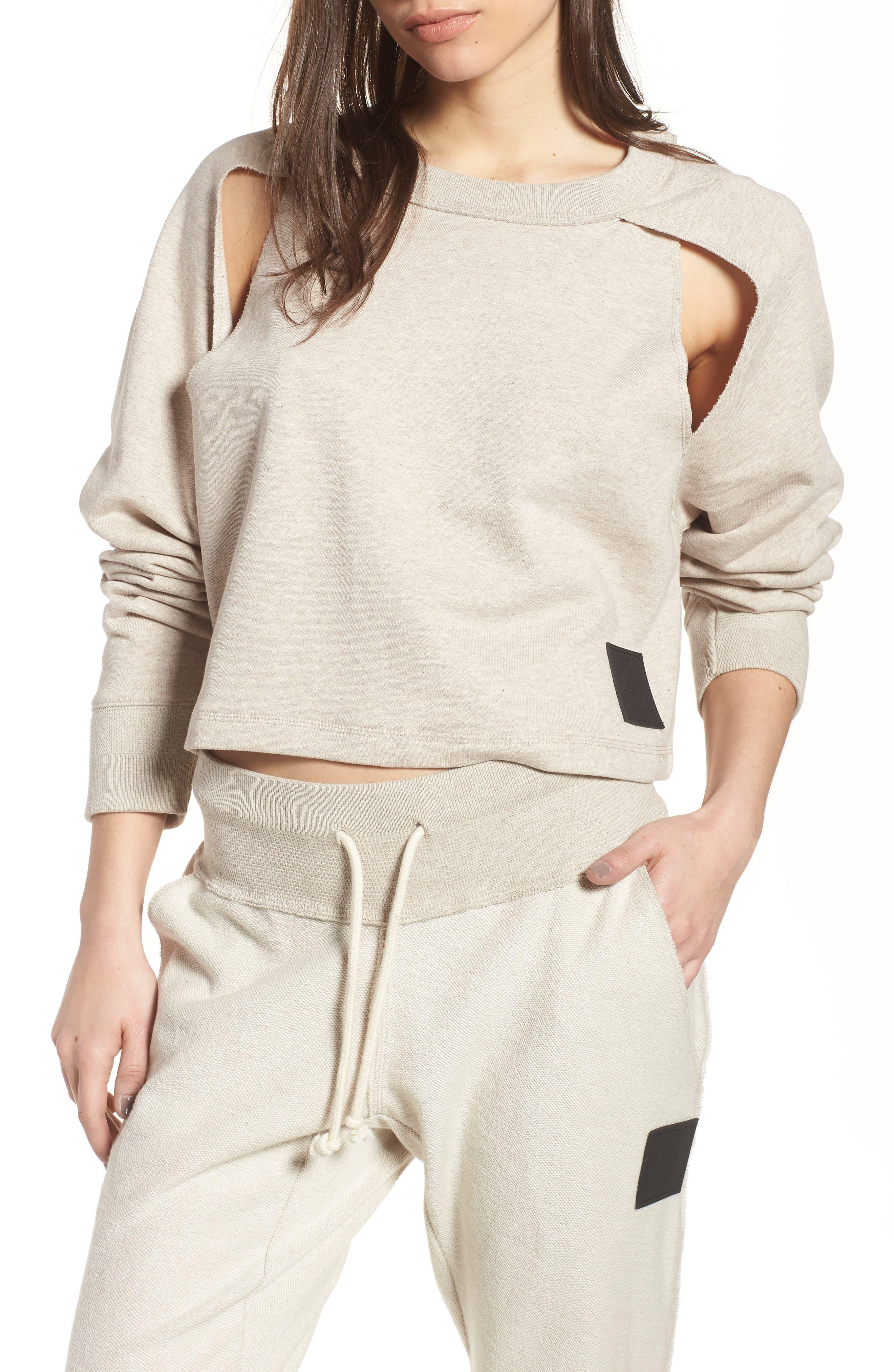 IVY PARK® Cutaway Raglan Seam Pullover
