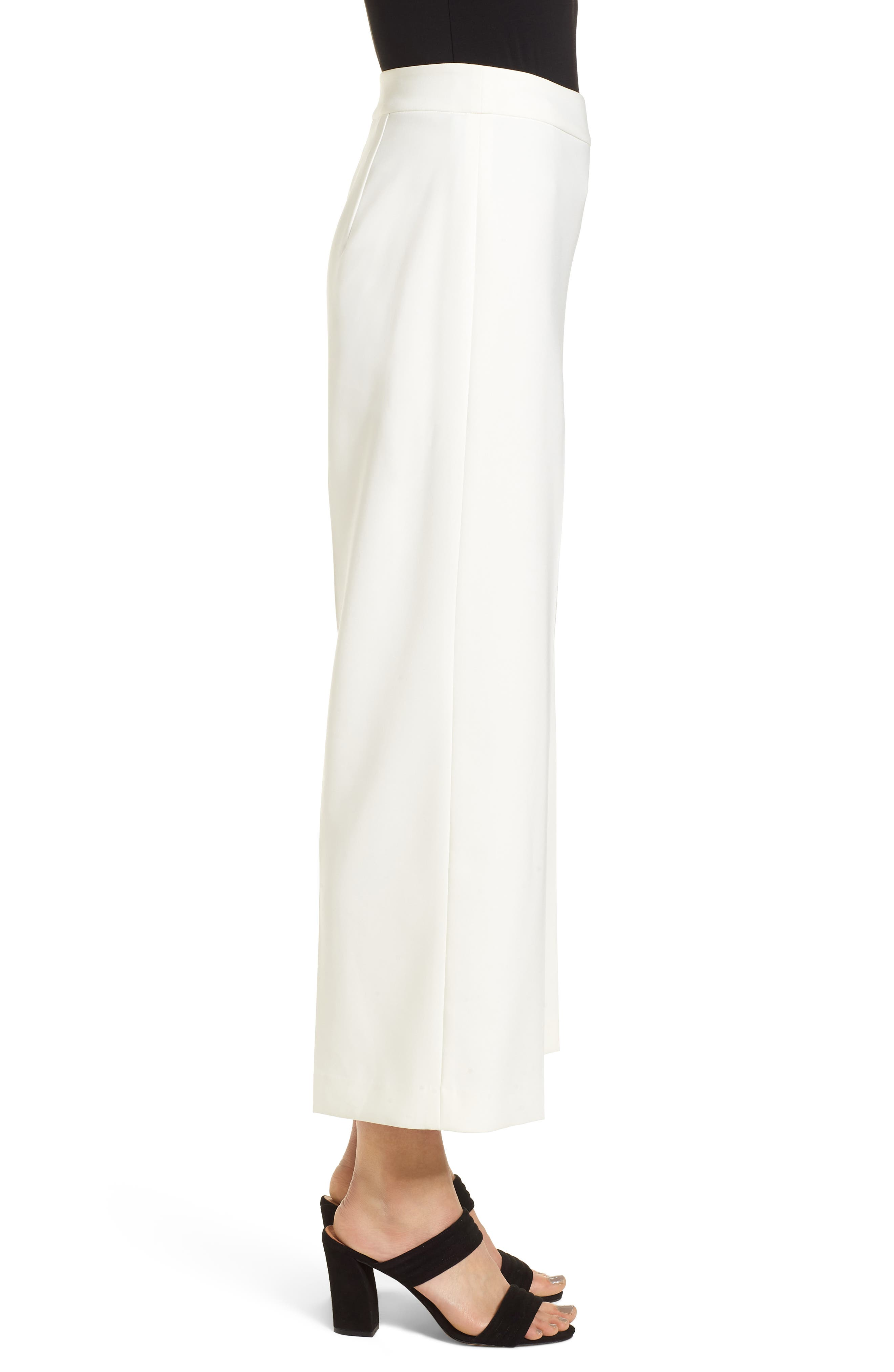 High-Waist Crop Pants,                             Alternate thumbnail 3, color,                             New Ivory