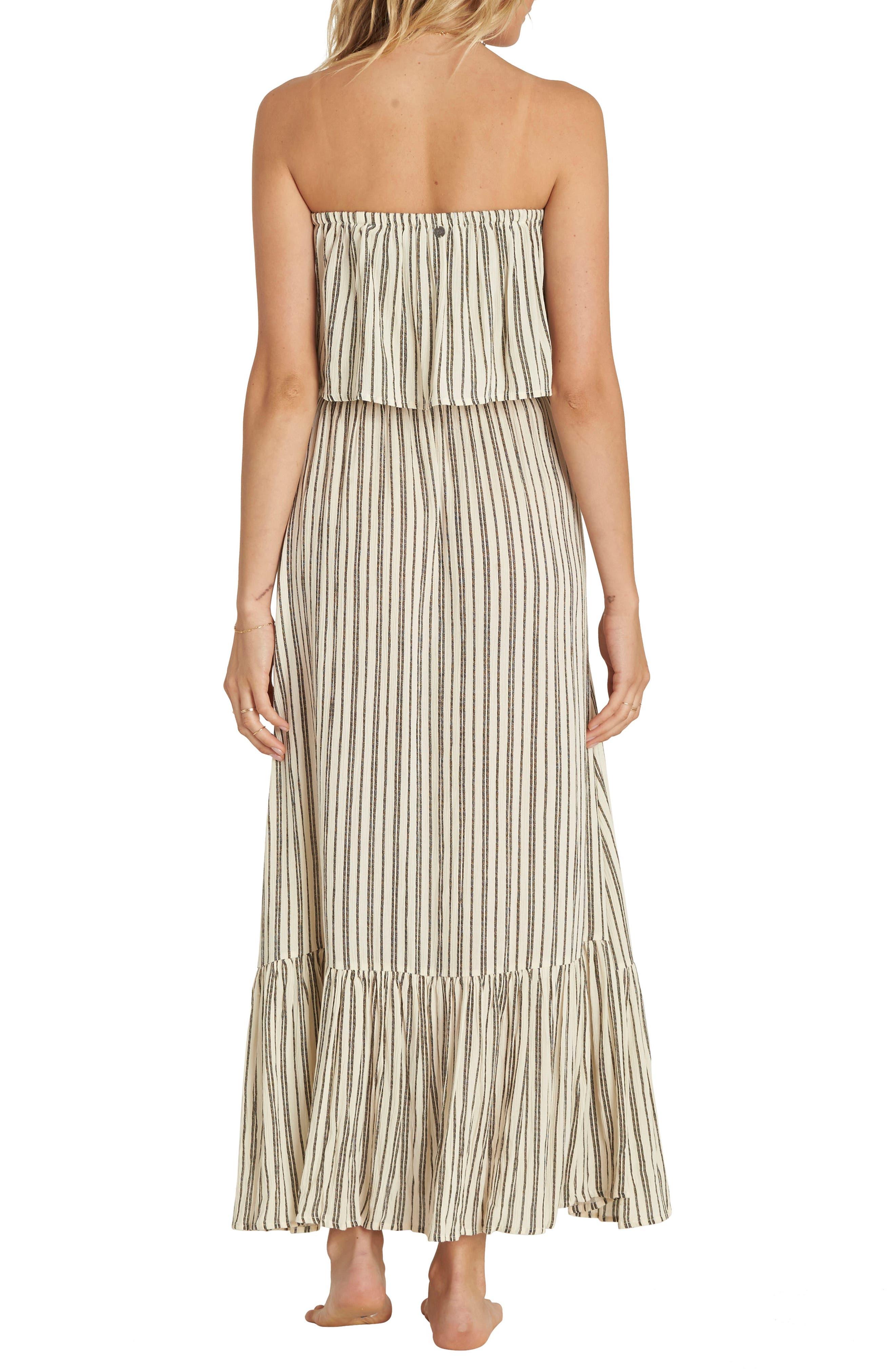 Island Vibes Strapless Maxi Dress,                             Alternate thumbnail 2, color,                             White Cap