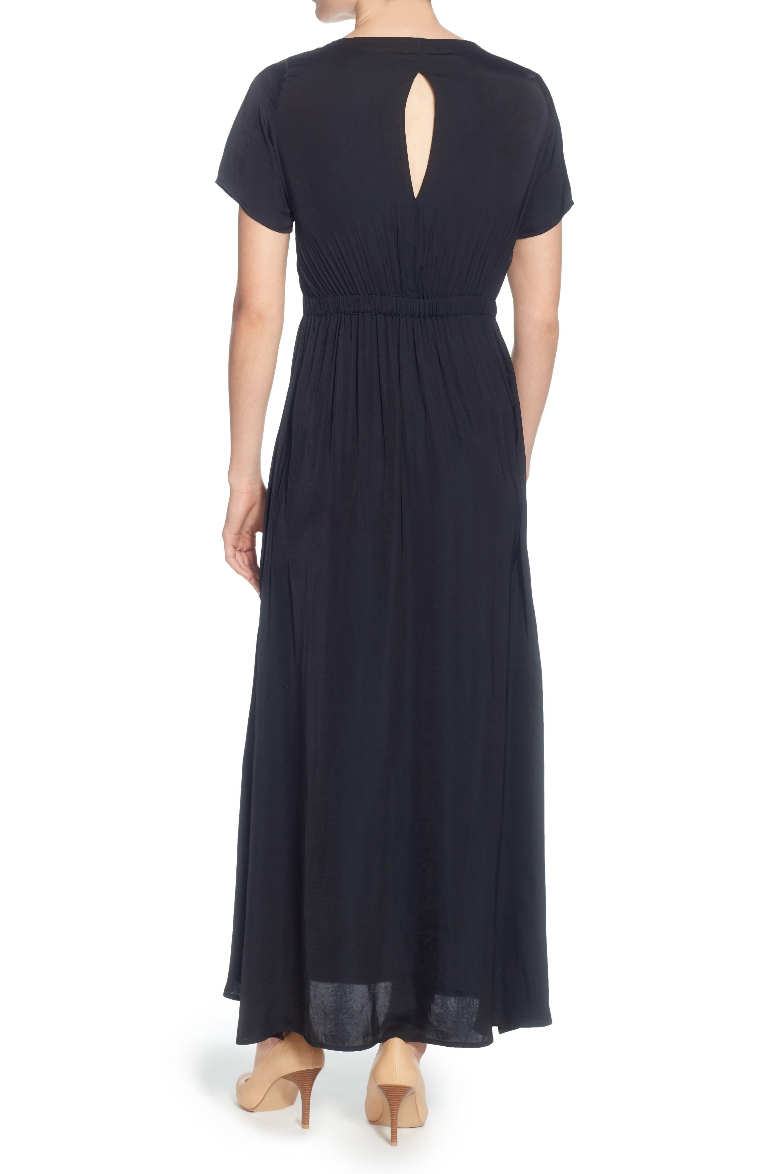 Lua Maxi Dress,                             Alternate thumbnail 2, color,                             Black