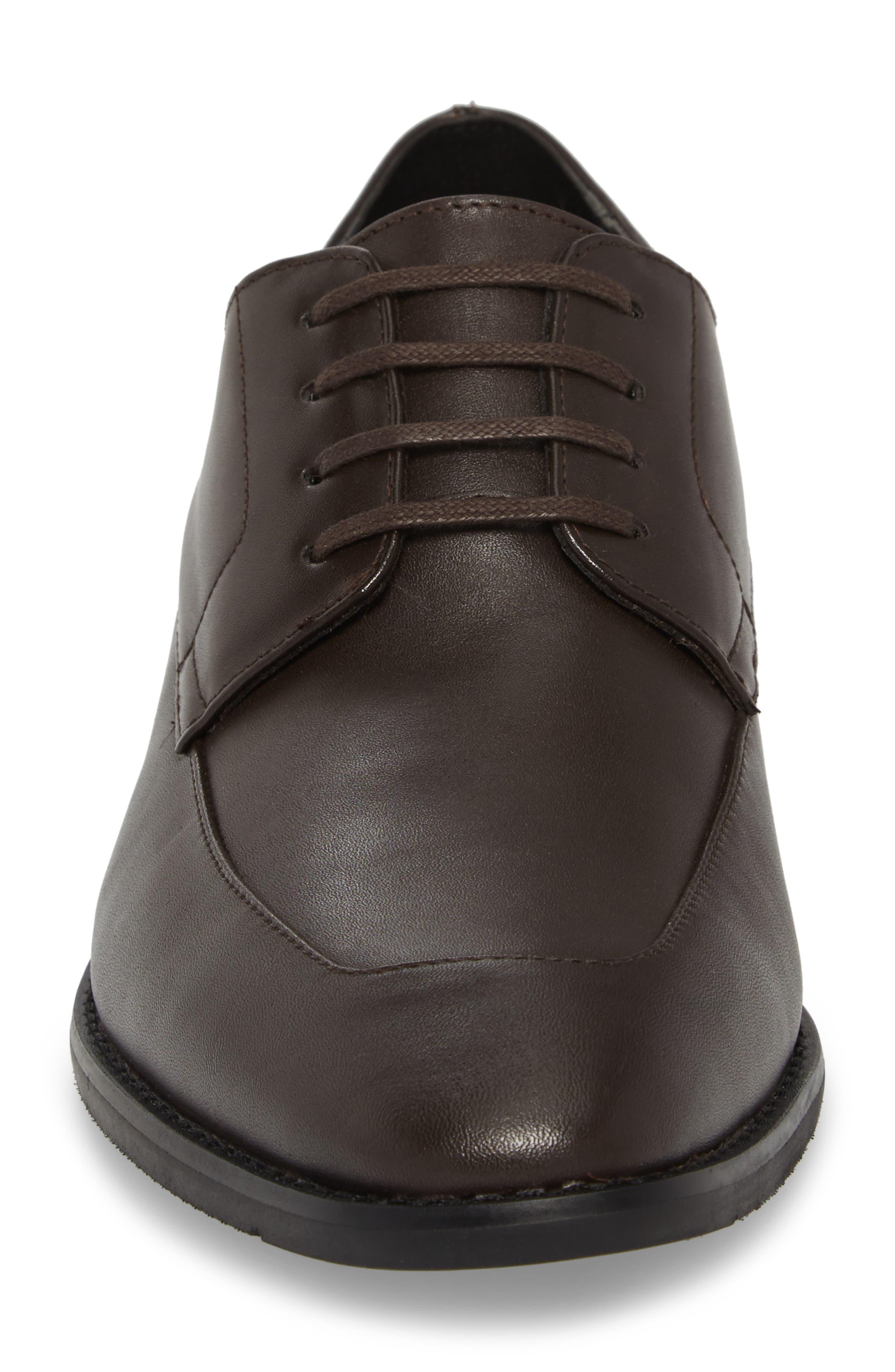 Rambert Embossed Derby,                             Alternate thumbnail 5, color,                             Dark Brown Leather