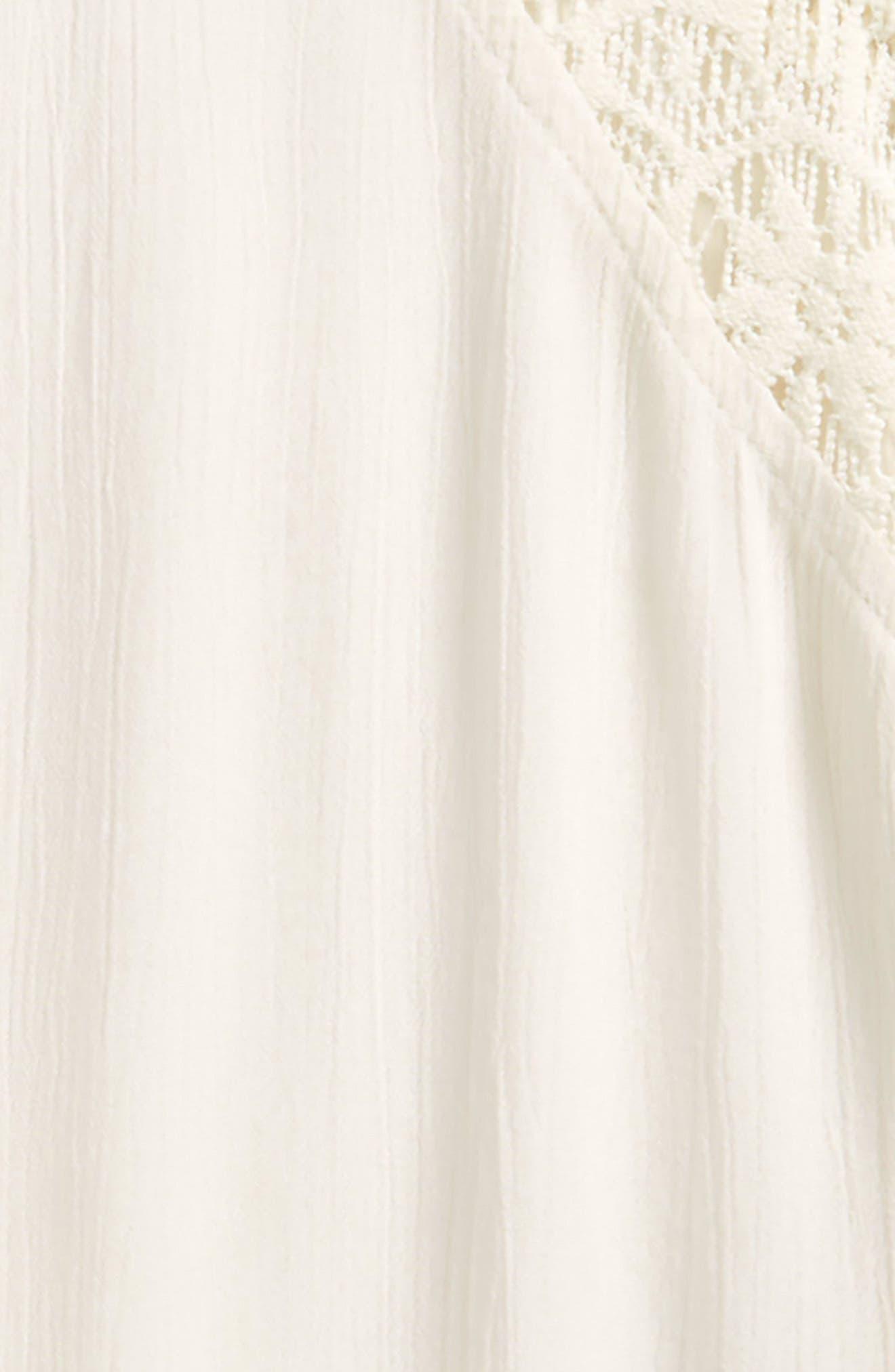 Addilyn Crochet Cover-Up Dress,                             Alternate thumbnail 2, color,                             Vanilla