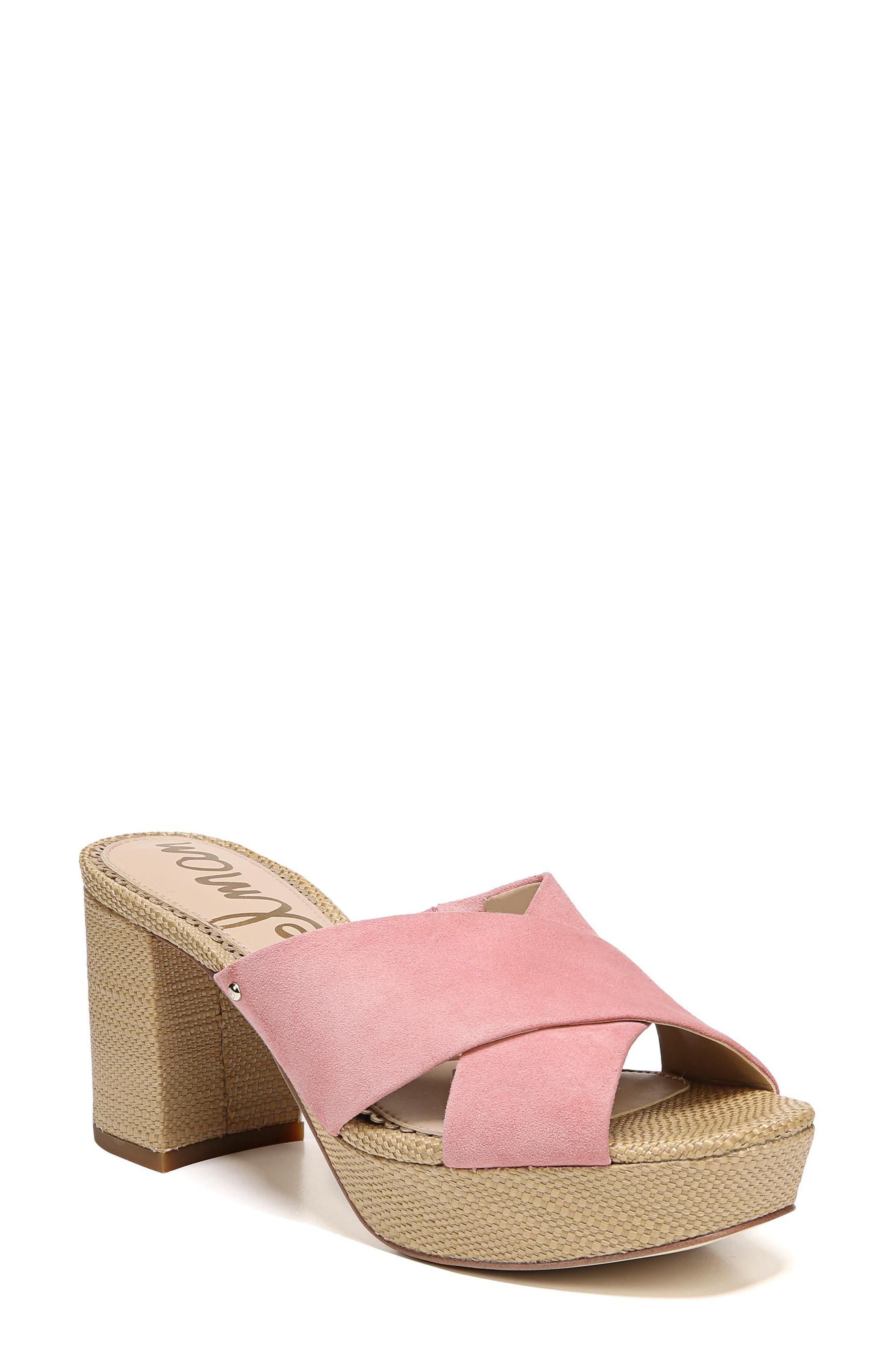 434b800c8ce Sam Edelman Women S Jayne Suede Platform High-Heel Slide Sandals In ...