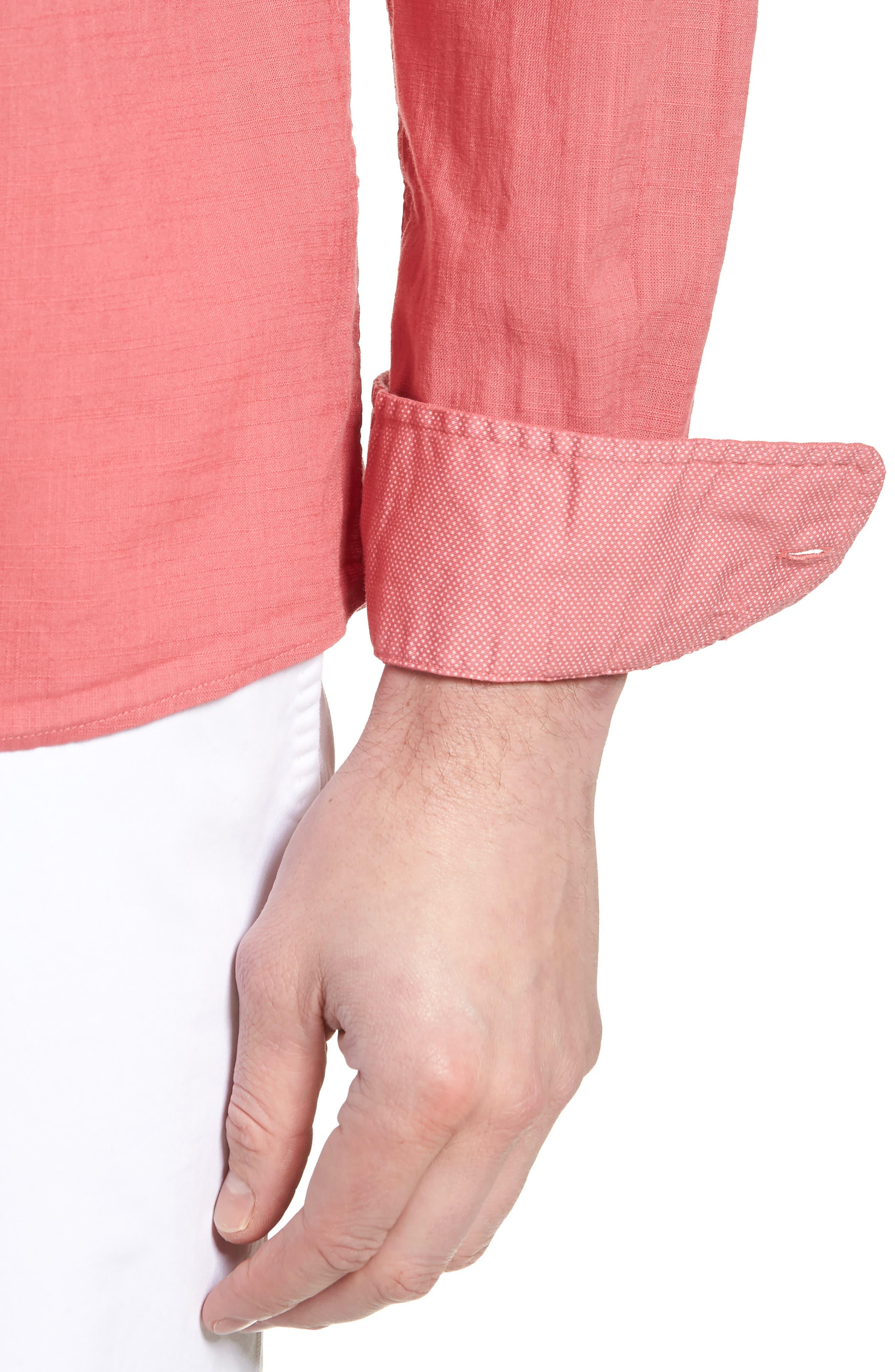 Brodie Regular Fit Sport Shirt,                             Alternate thumbnail 4, color,                             Calypso