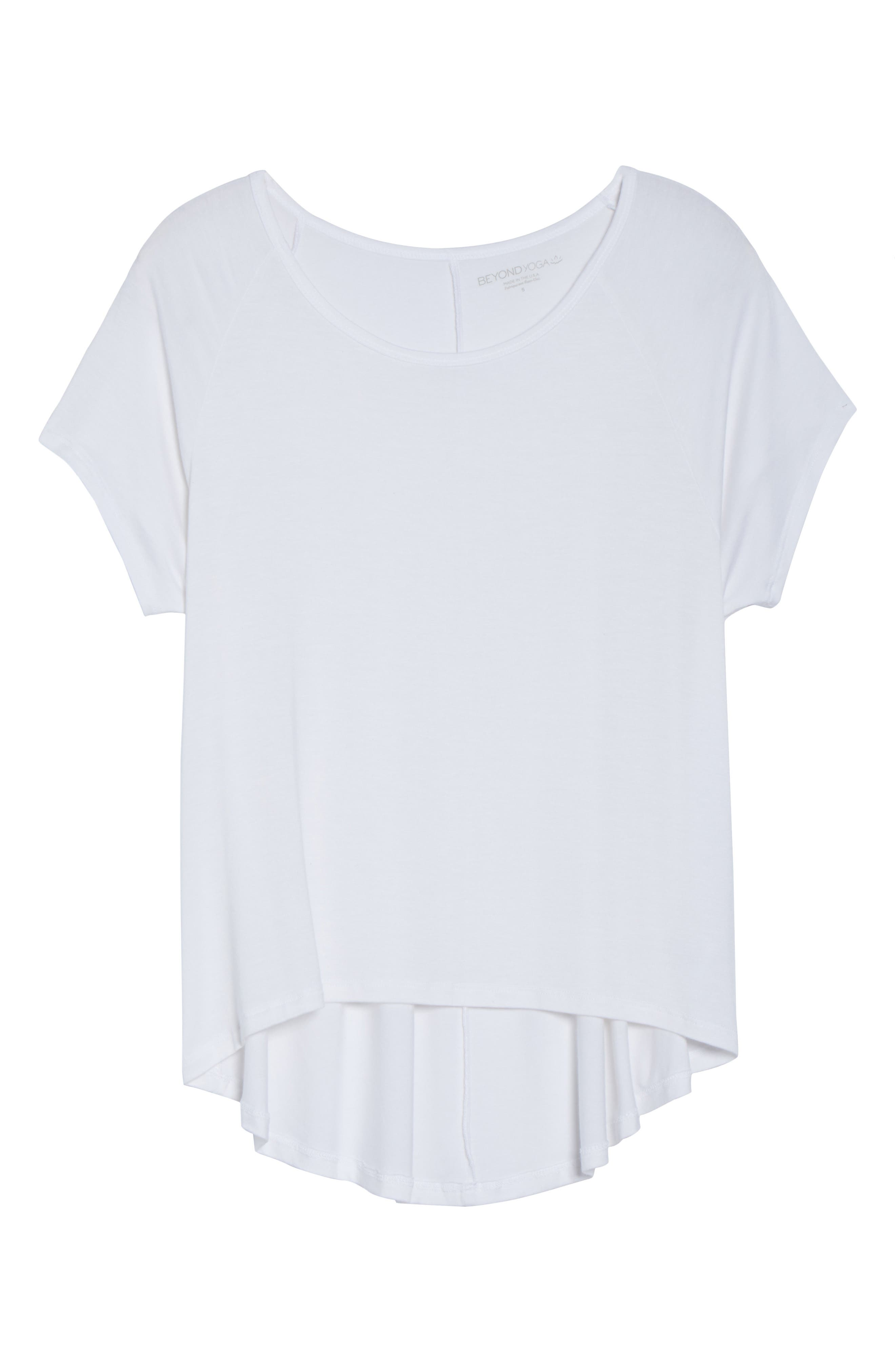 Slink Out Loud High/Low Tee,                             Alternate thumbnail 7, color,                             White