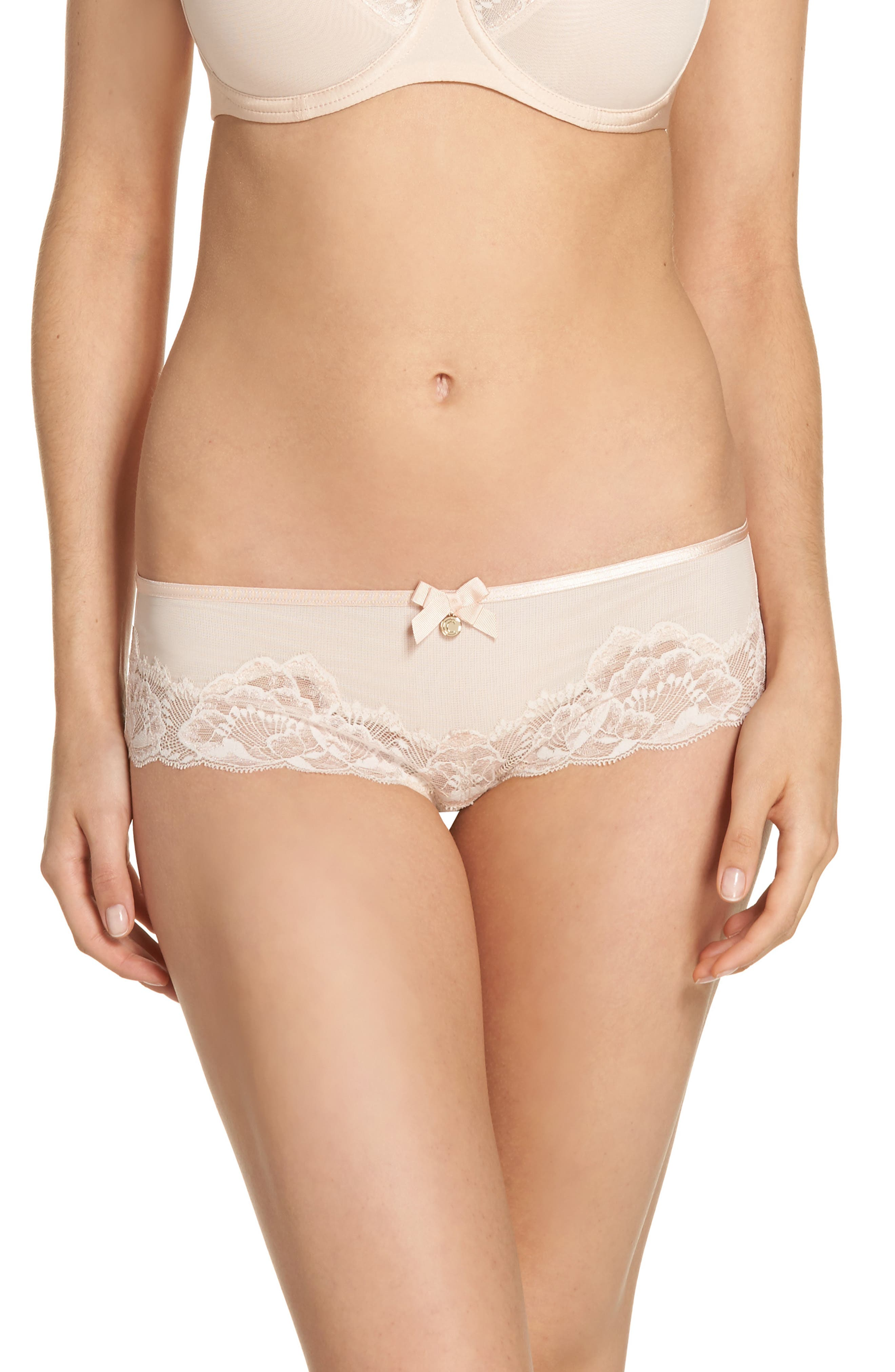 Orangerie Hipster Panties,                             Main thumbnail 1, color,                             Skin Rose