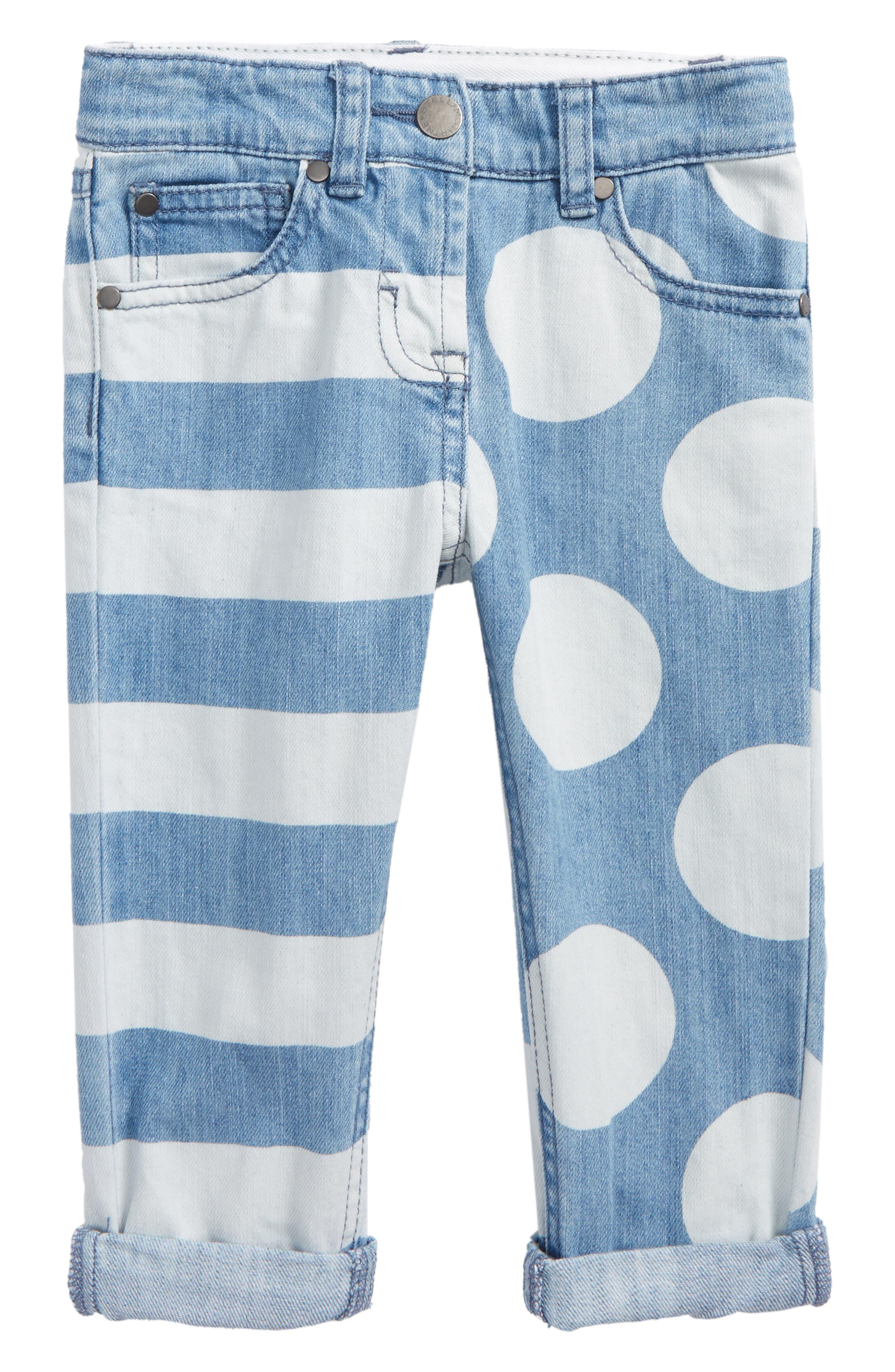 Lohan Stripe & Polka Dot Jeans,                         Main,                         color, Printed Denim