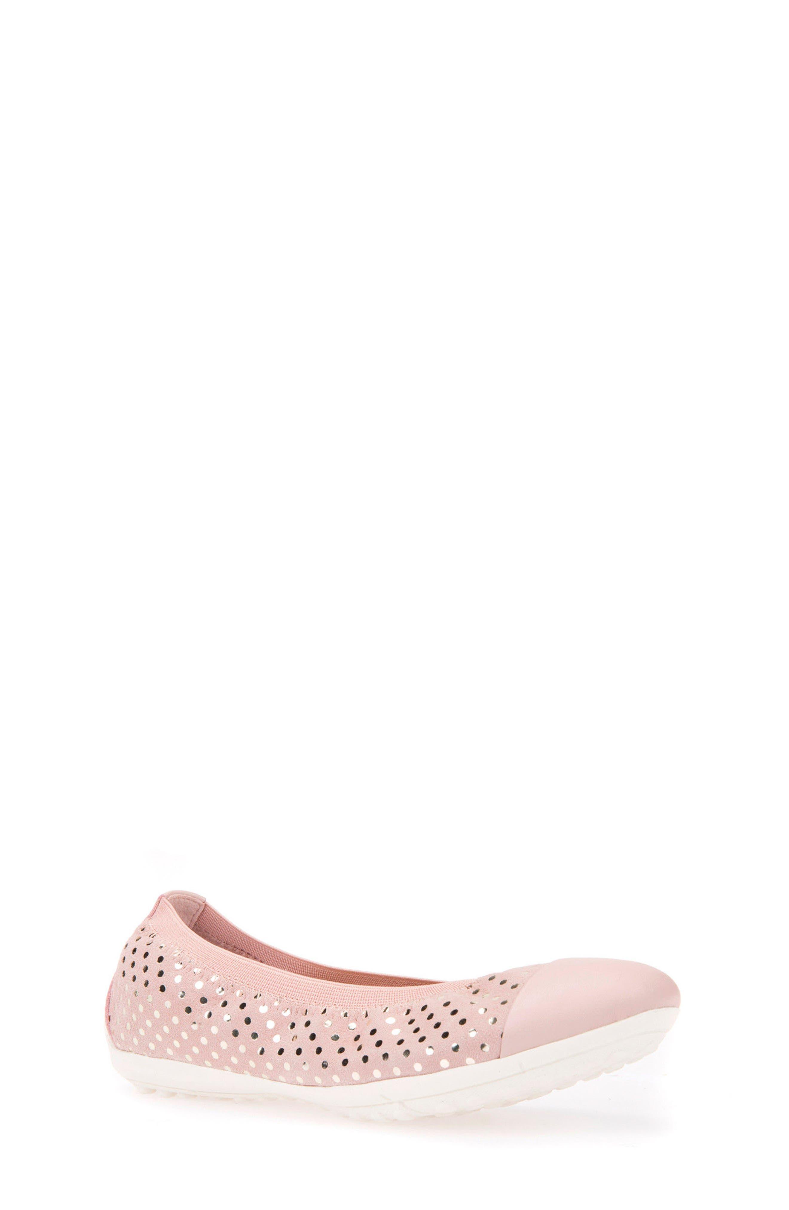 Jr Piuma Cap Toe Ballerina Flat,                         Main,                         color, Rose