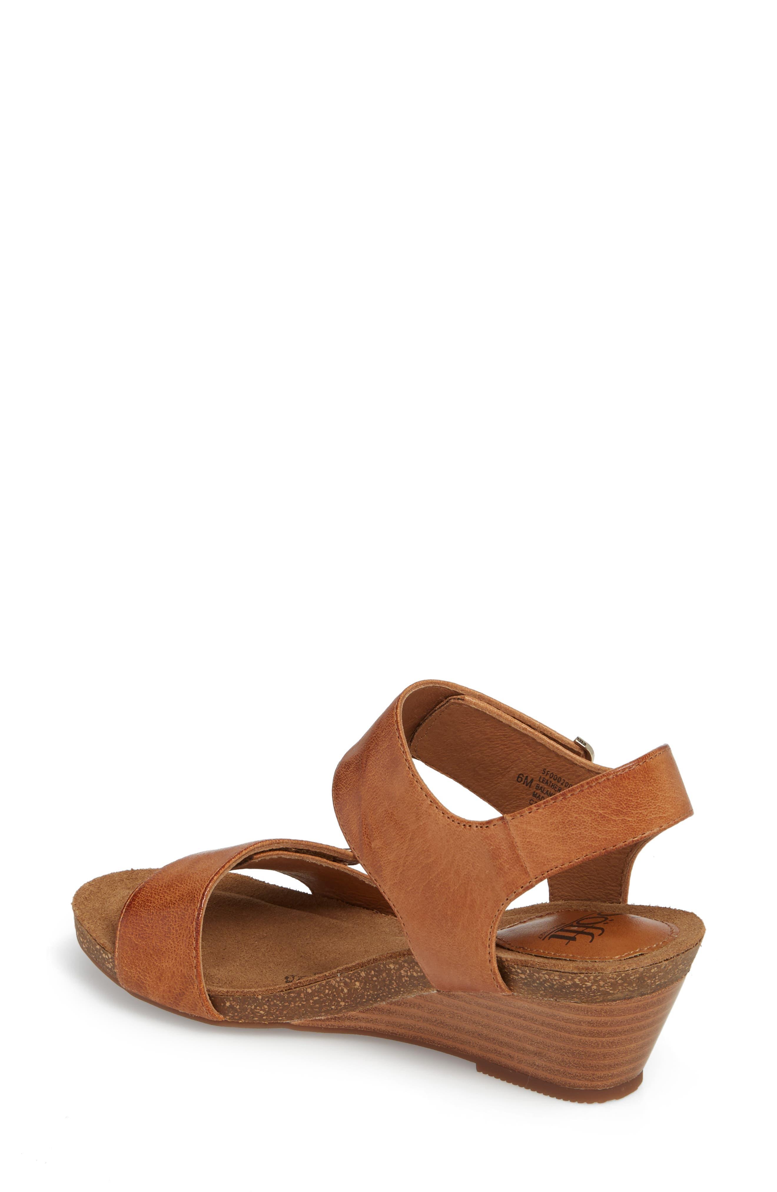 Verdi Wedge Sandal,                             Alternate thumbnail 2, color,                             Luggage Leather