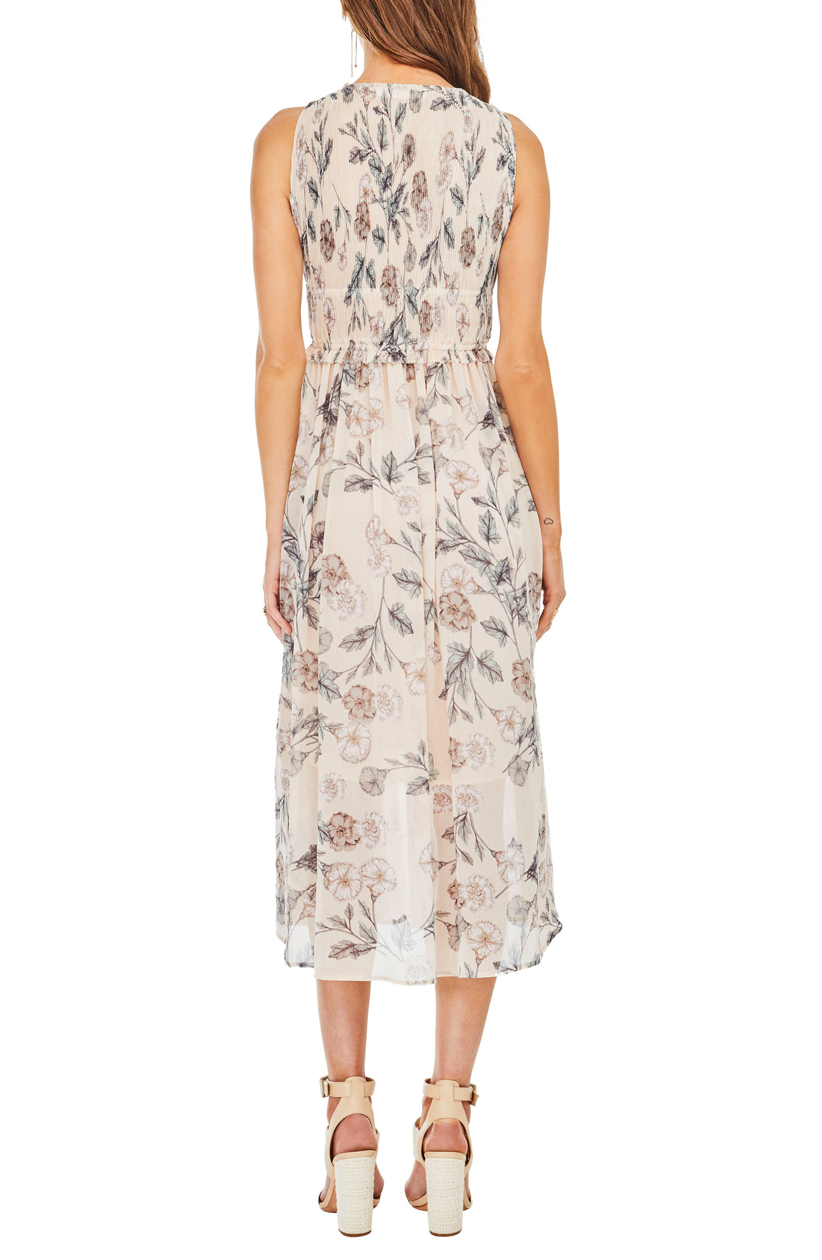 Miranda Midi Dress,                             Alternate thumbnail 2, color,                             Dusty Blush Floral