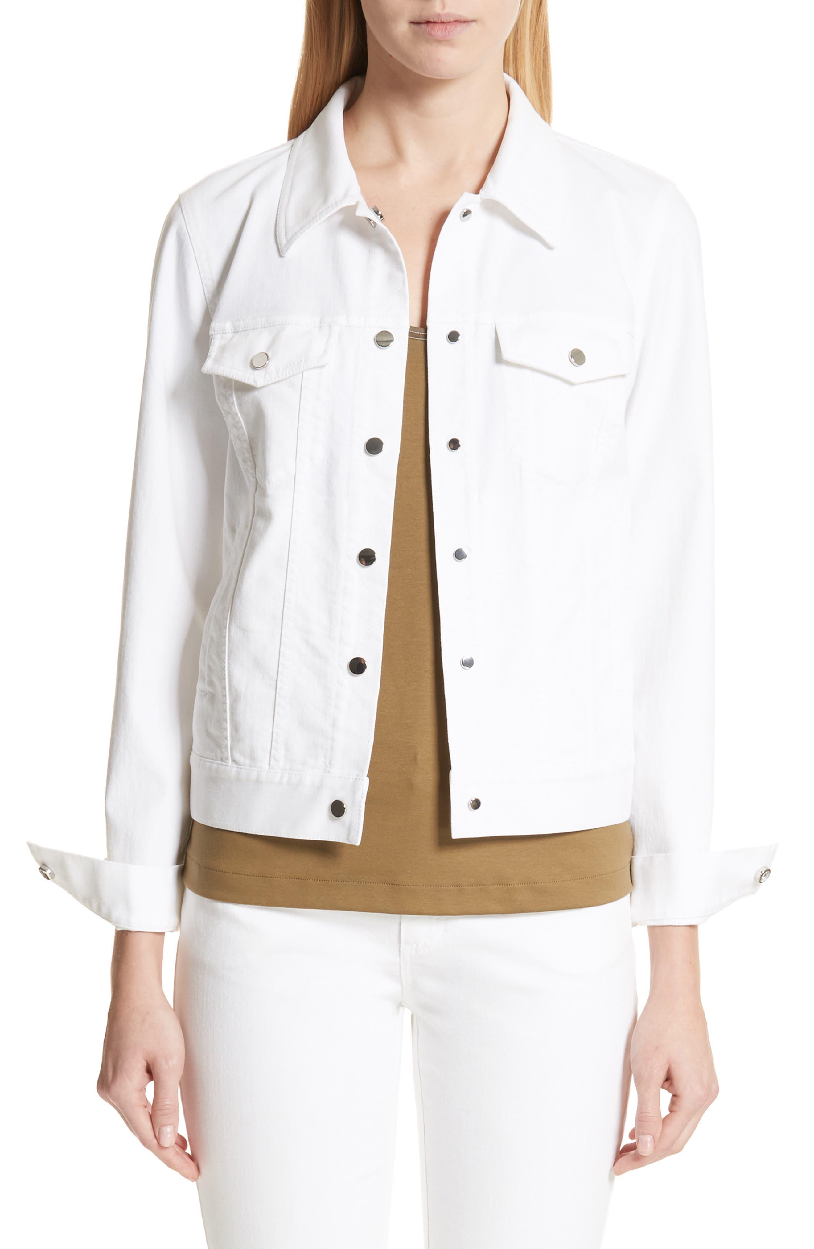 Destiny Denim Jacket,                         Main,                         color, White