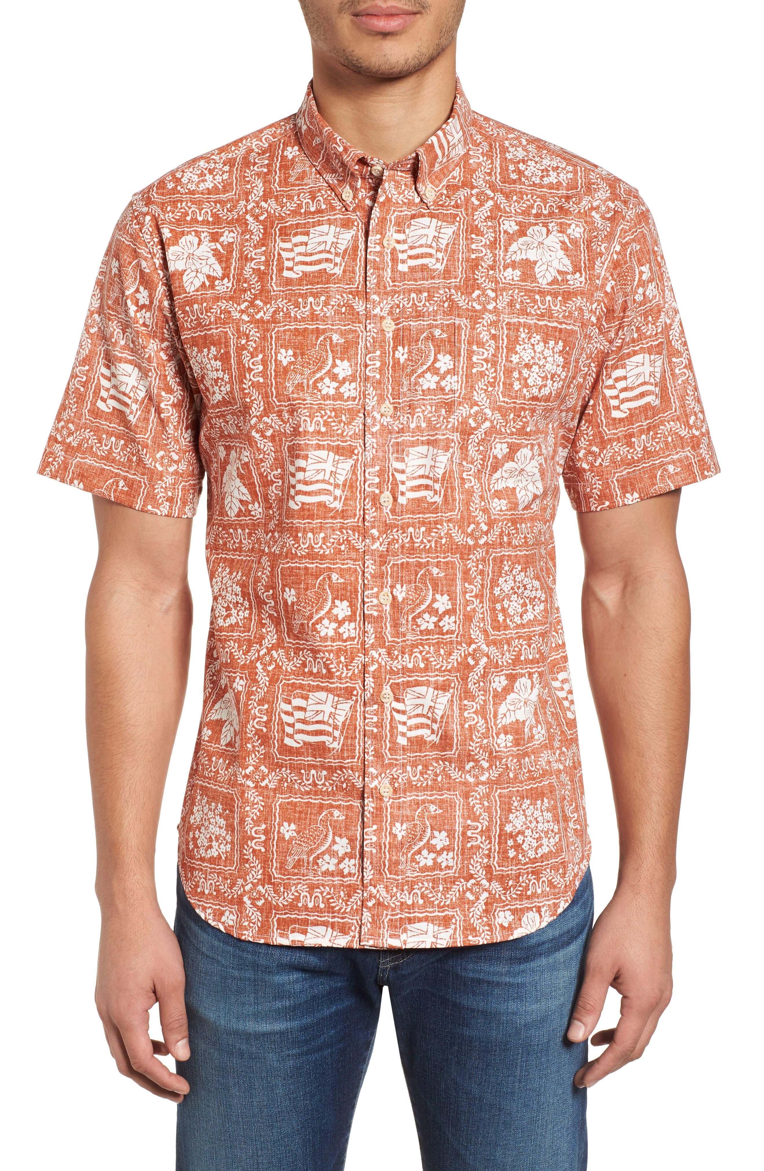Reyn Spooner Lahaina Sailor Tailored Fit Sport Shirt