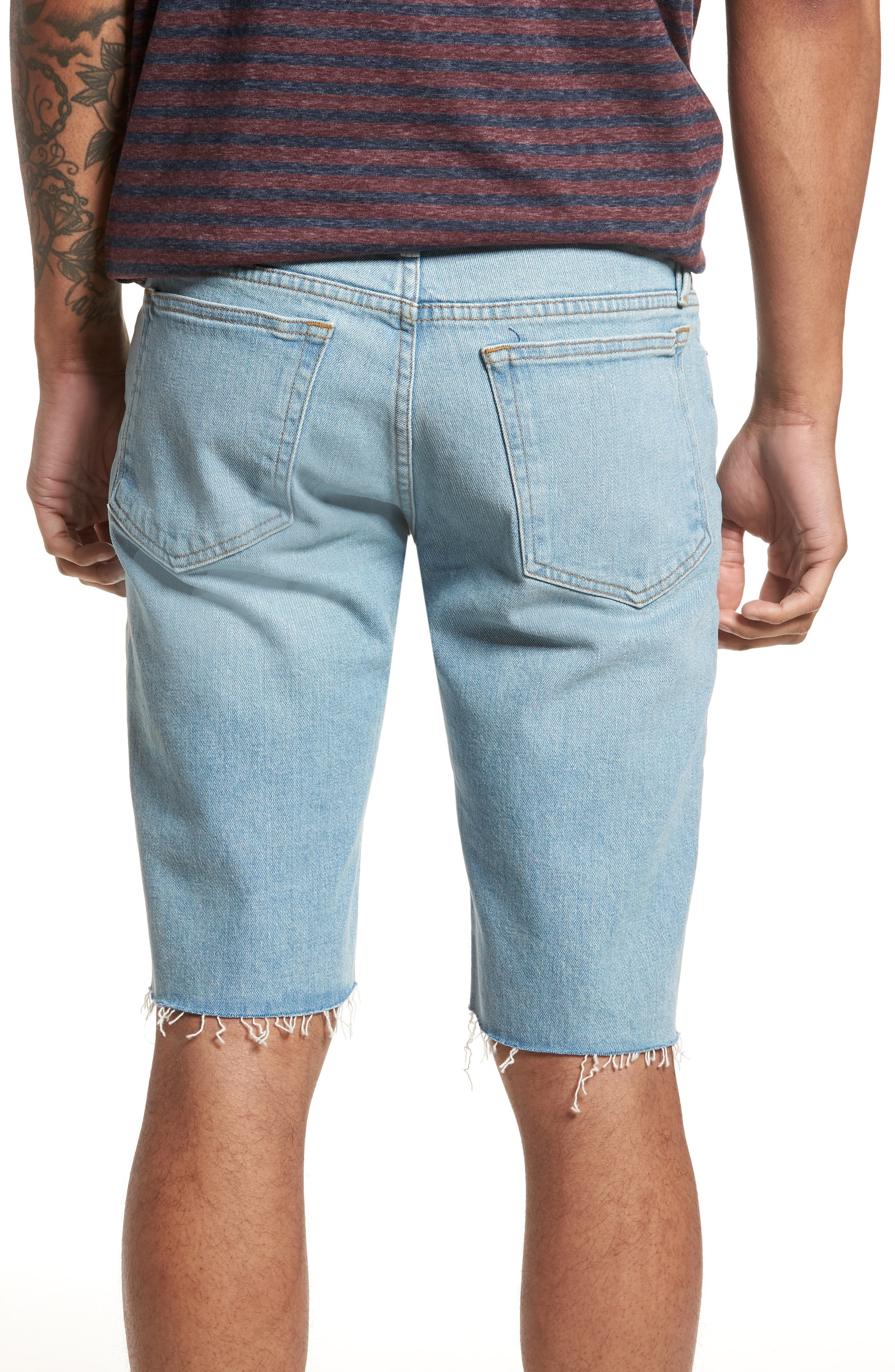 L'Homme Cutoff Denim Shorts,                             Alternate thumbnail 2, color,                             Crosby