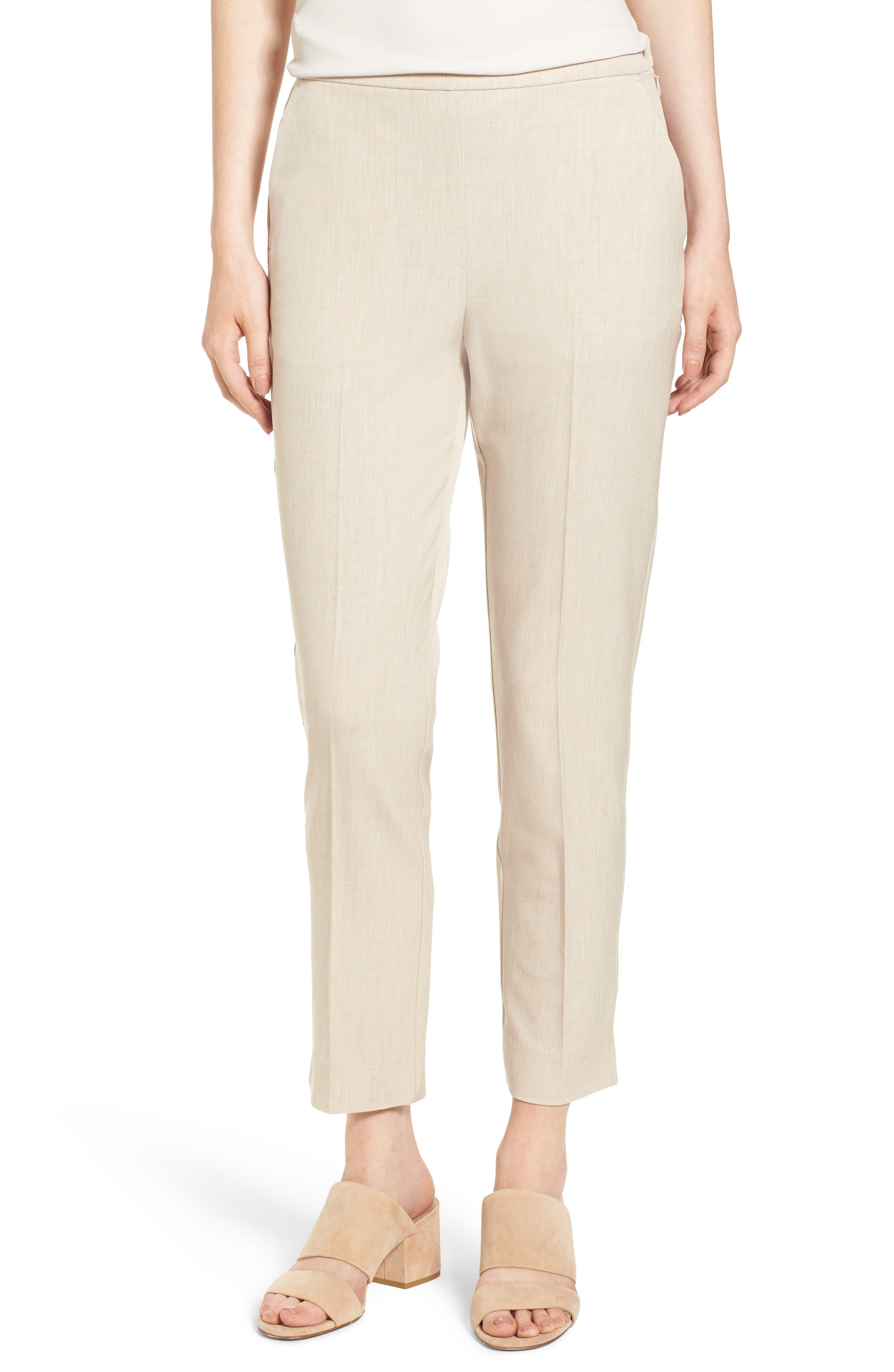 High Waist Tapered Pants,                         Main,                         color, Buttercream