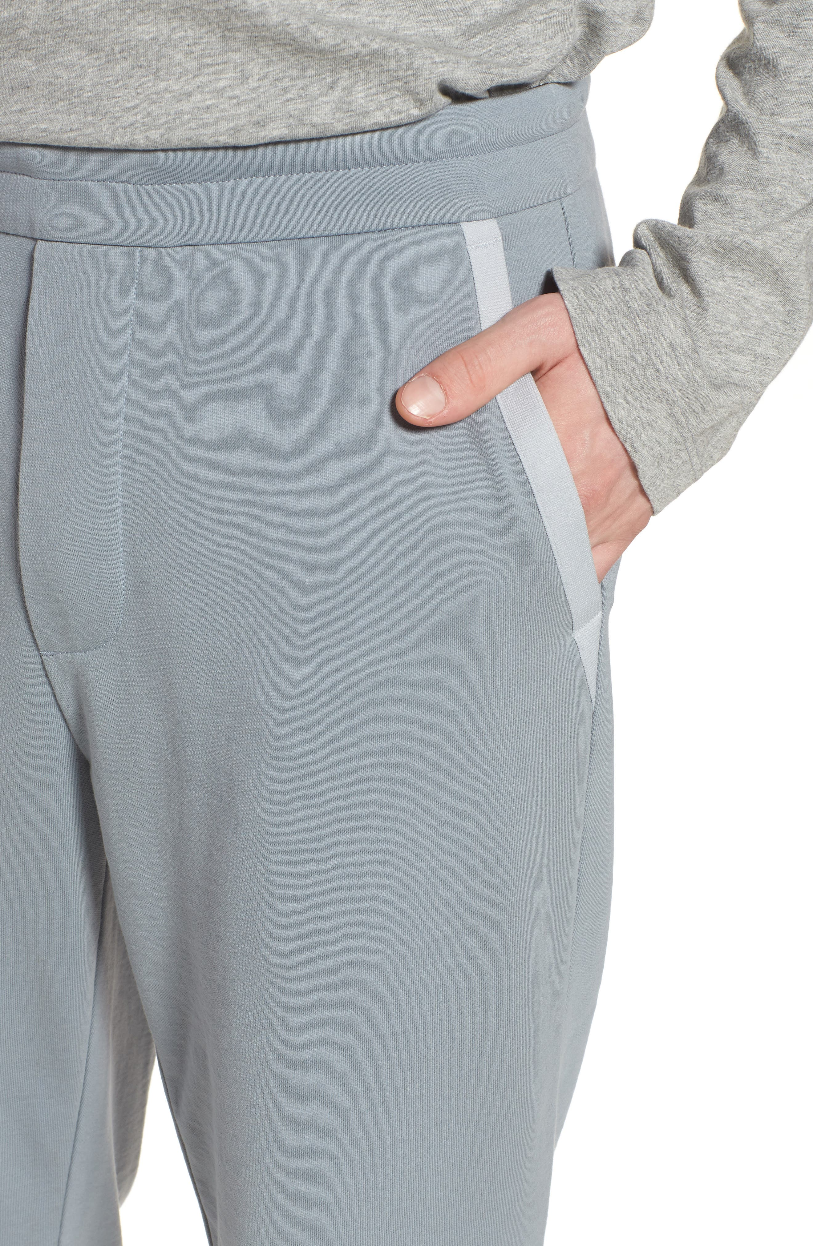 Cotton Pants,                             Alternate thumbnail 4, color,                             Grey Sky/ Light Grey