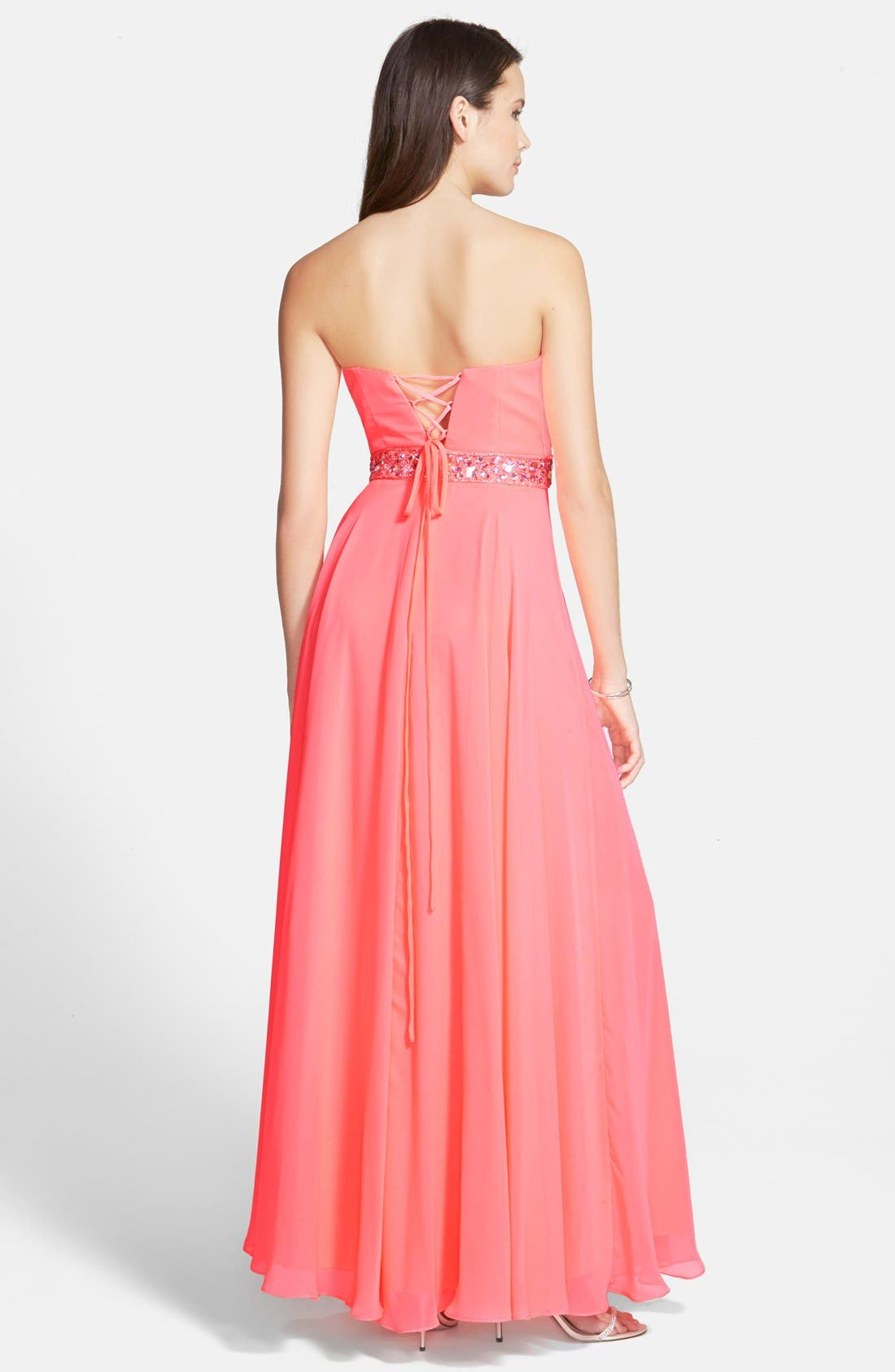 Alternate Image 2  - Xscape Embellished Chiffon Gown