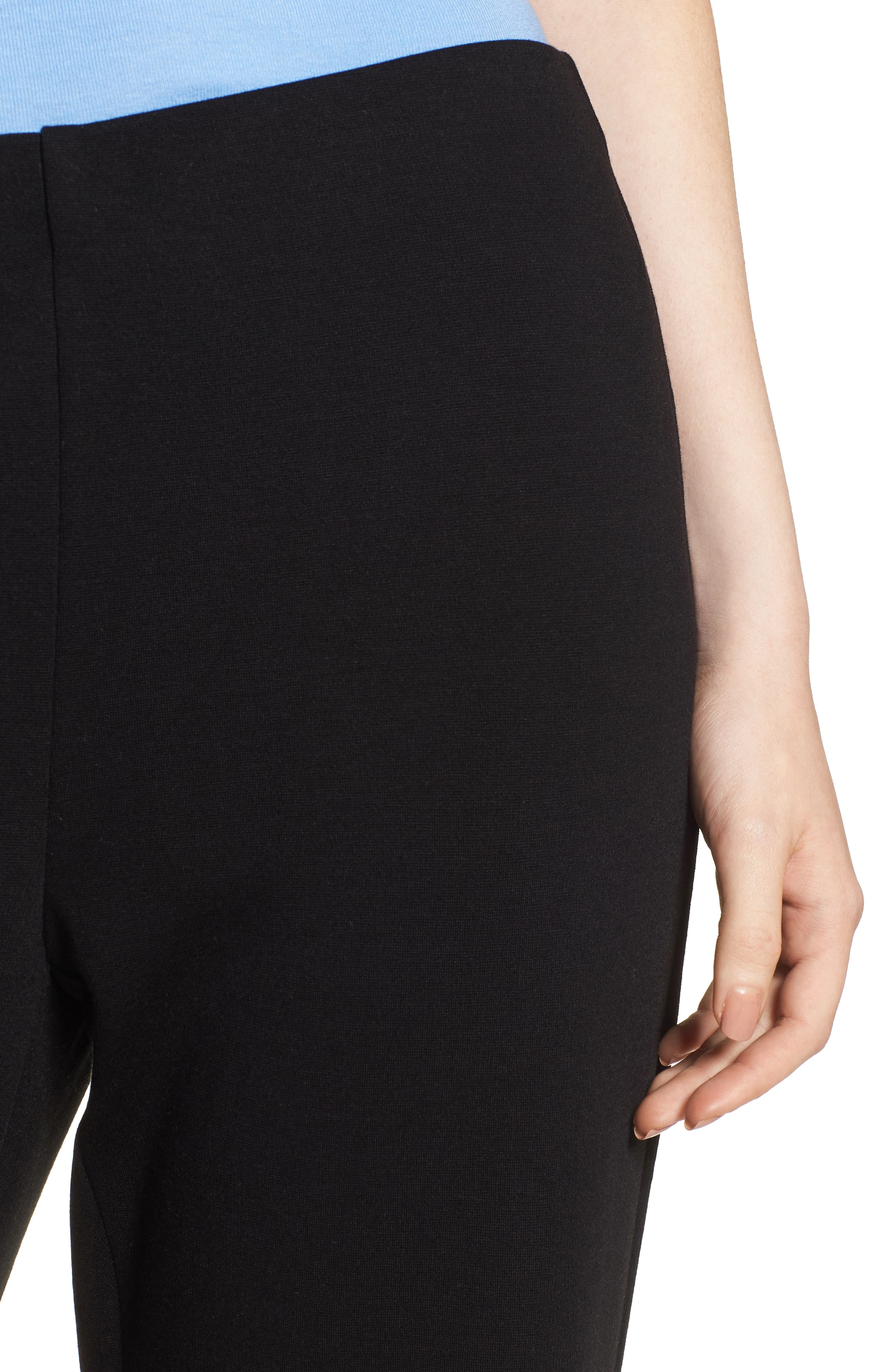 Straight Leg Pants,                             Alternate thumbnail 4, color,                             Black