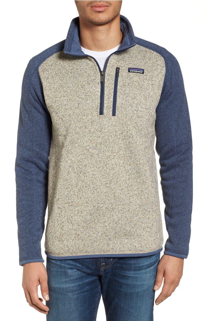 patagonia 39 better sweater 39 quarter zip pullover nordstrom. Black Bedroom Furniture Sets. Home Design Ideas