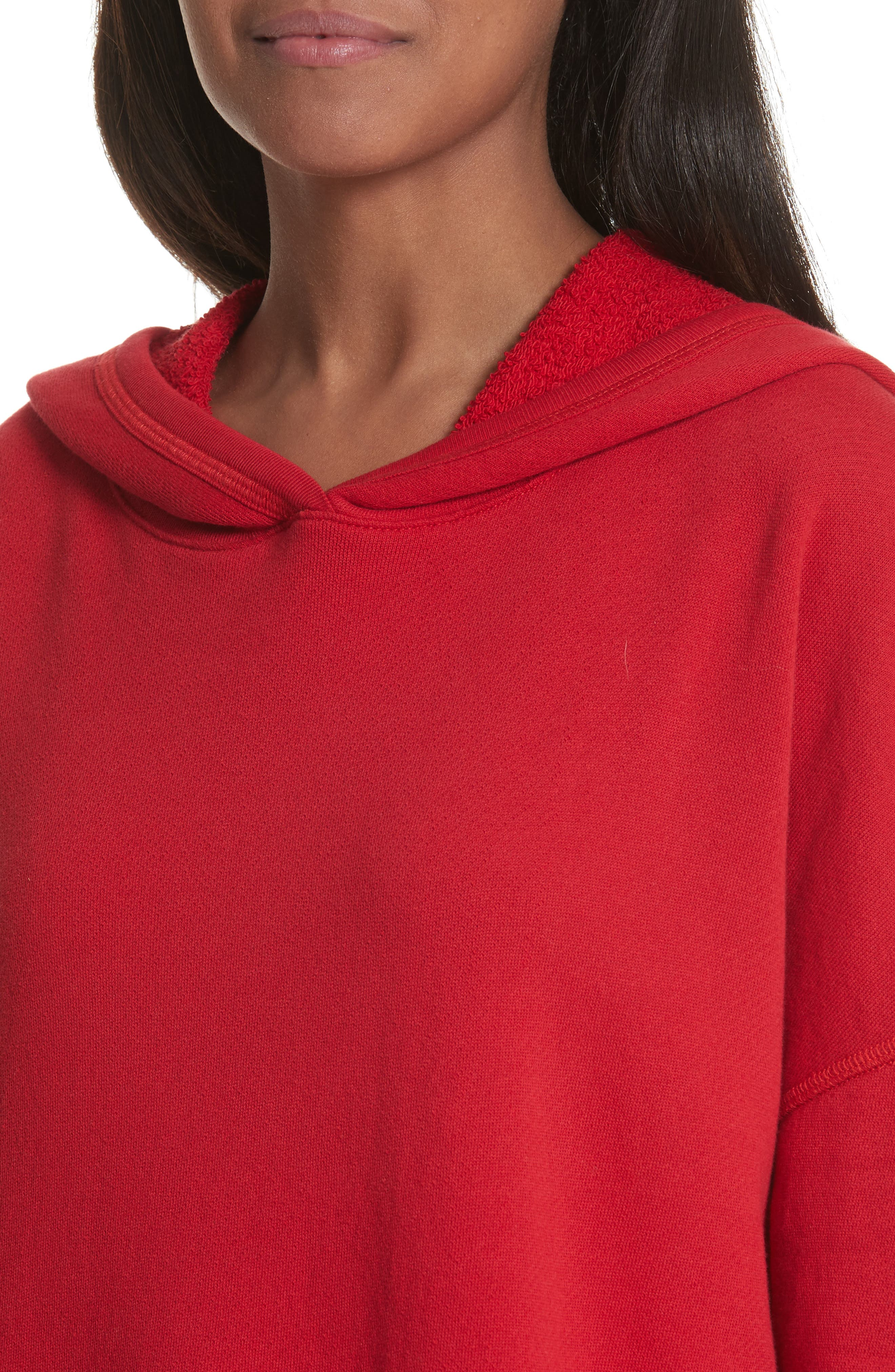 Adene Hooded Sweatshirt,                             Alternate thumbnail 4, color,                             Matador Red