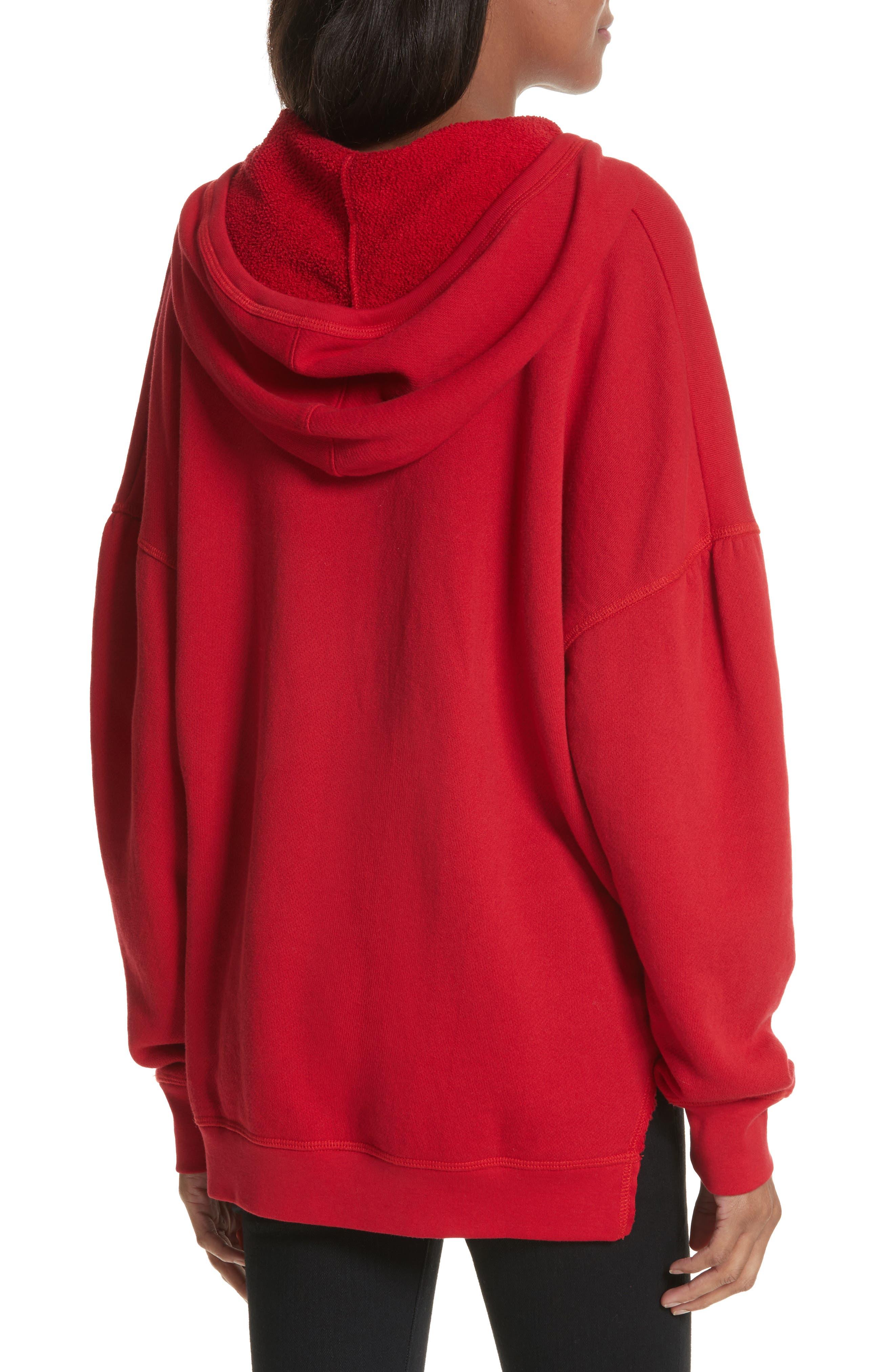 Adene Hooded Sweatshirt,                             Alternate thumbnail 2, color,                             Matador Red