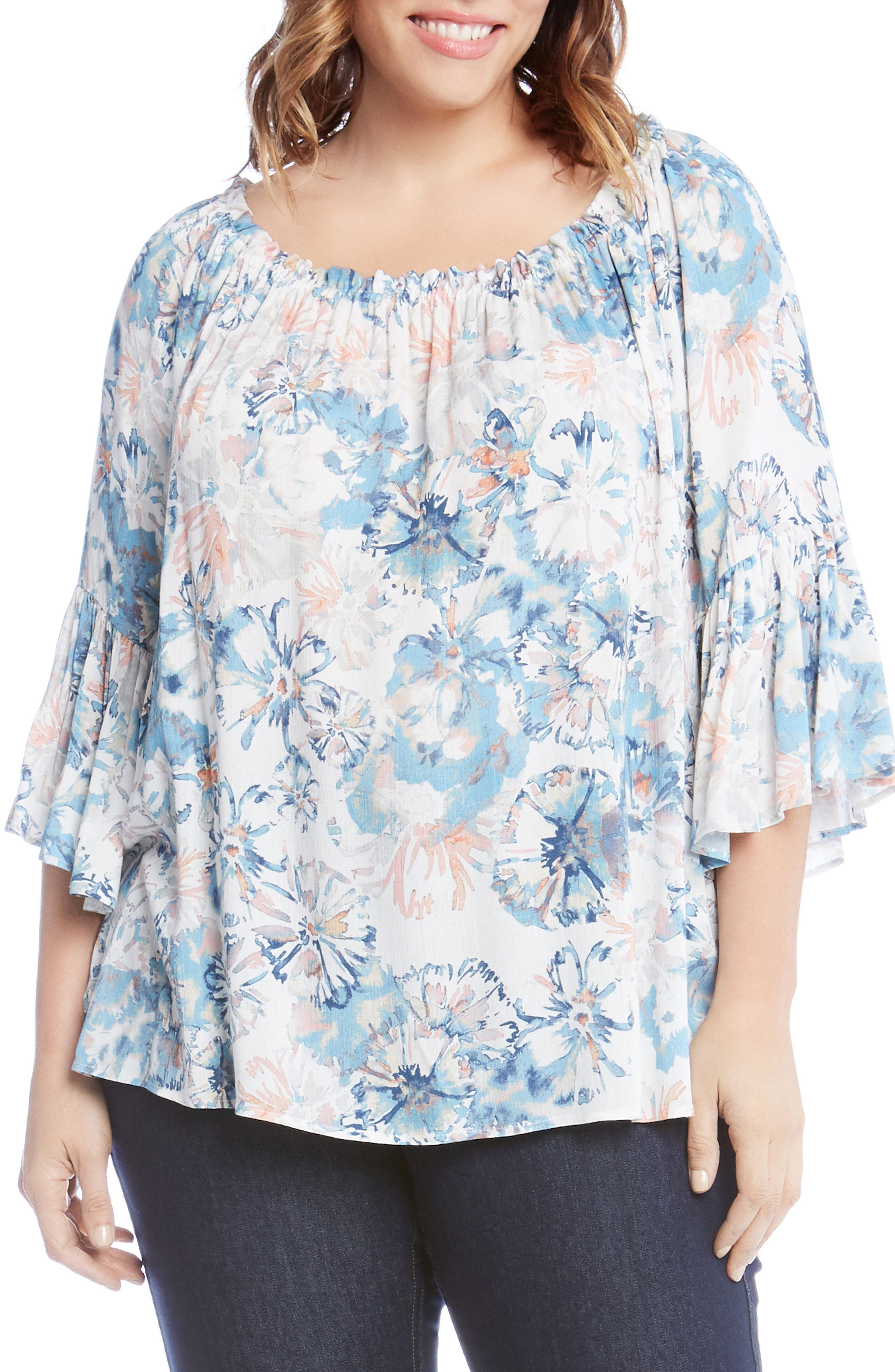 Convertible Off the Shoulder Top,                         Main,                         color, Powder Blue