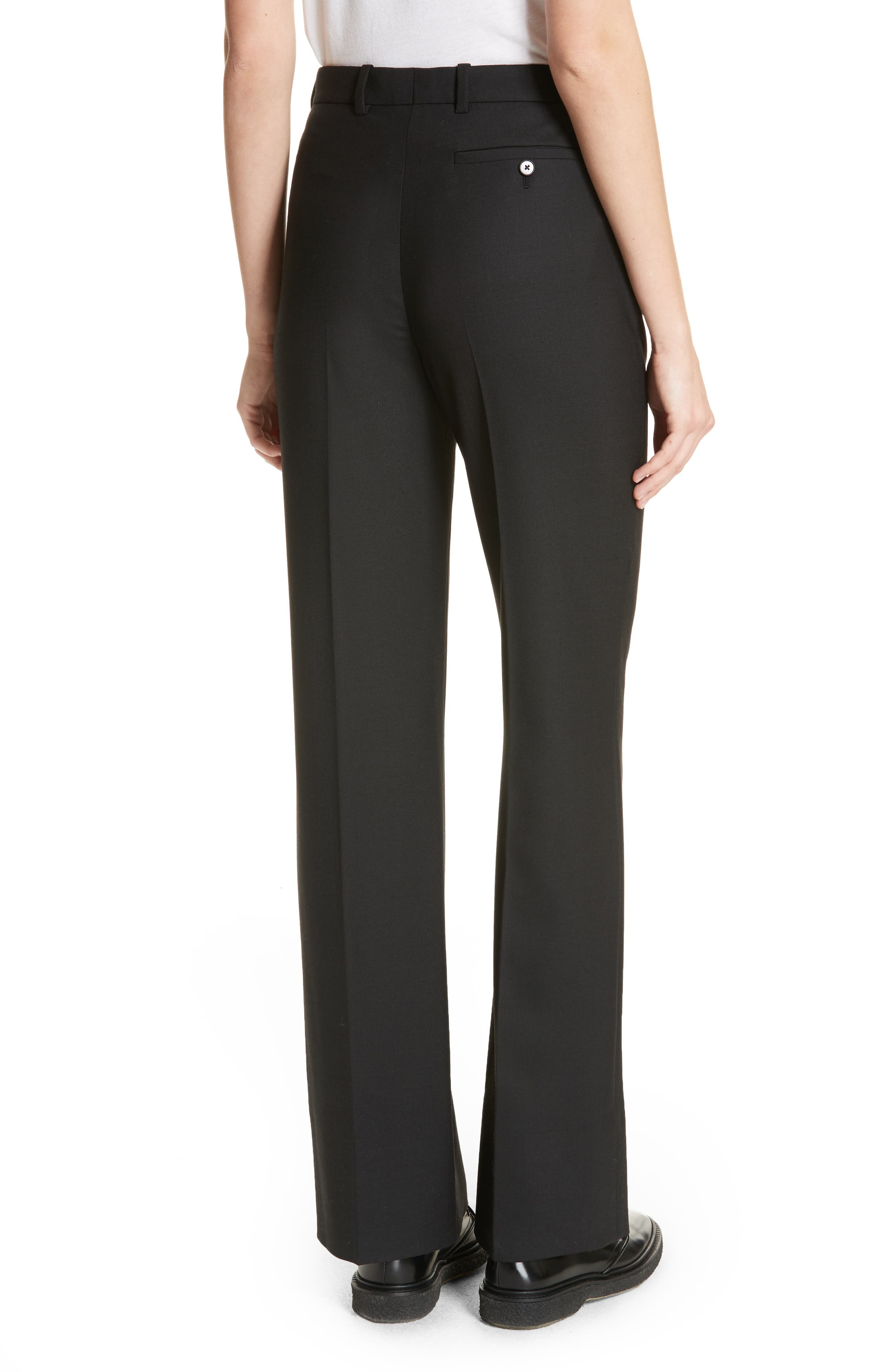 Tropez Wide Leg Trousers,                             Alternate thumbnail 2, color,                             Black