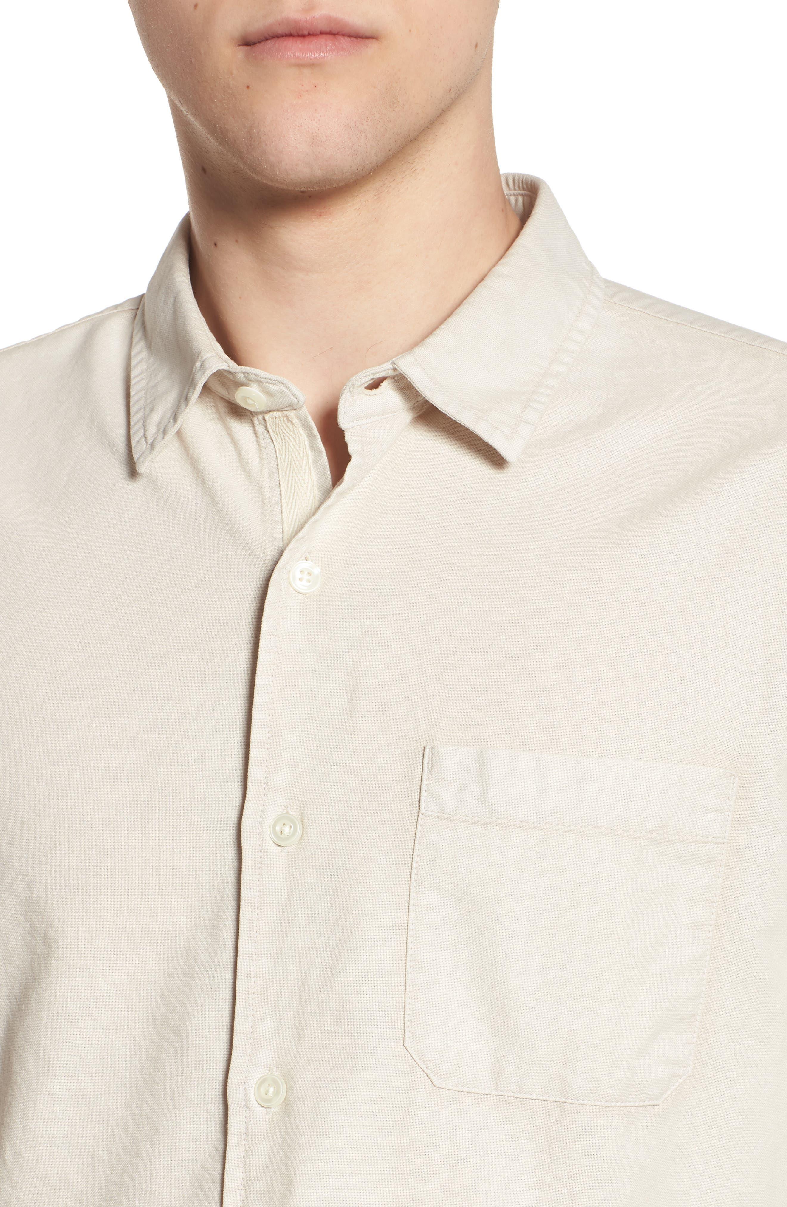 Bristol Slim Fit Sport Shirt,                             Alternate thumbnail 4, color,                             Sunbaked Mineral Veil