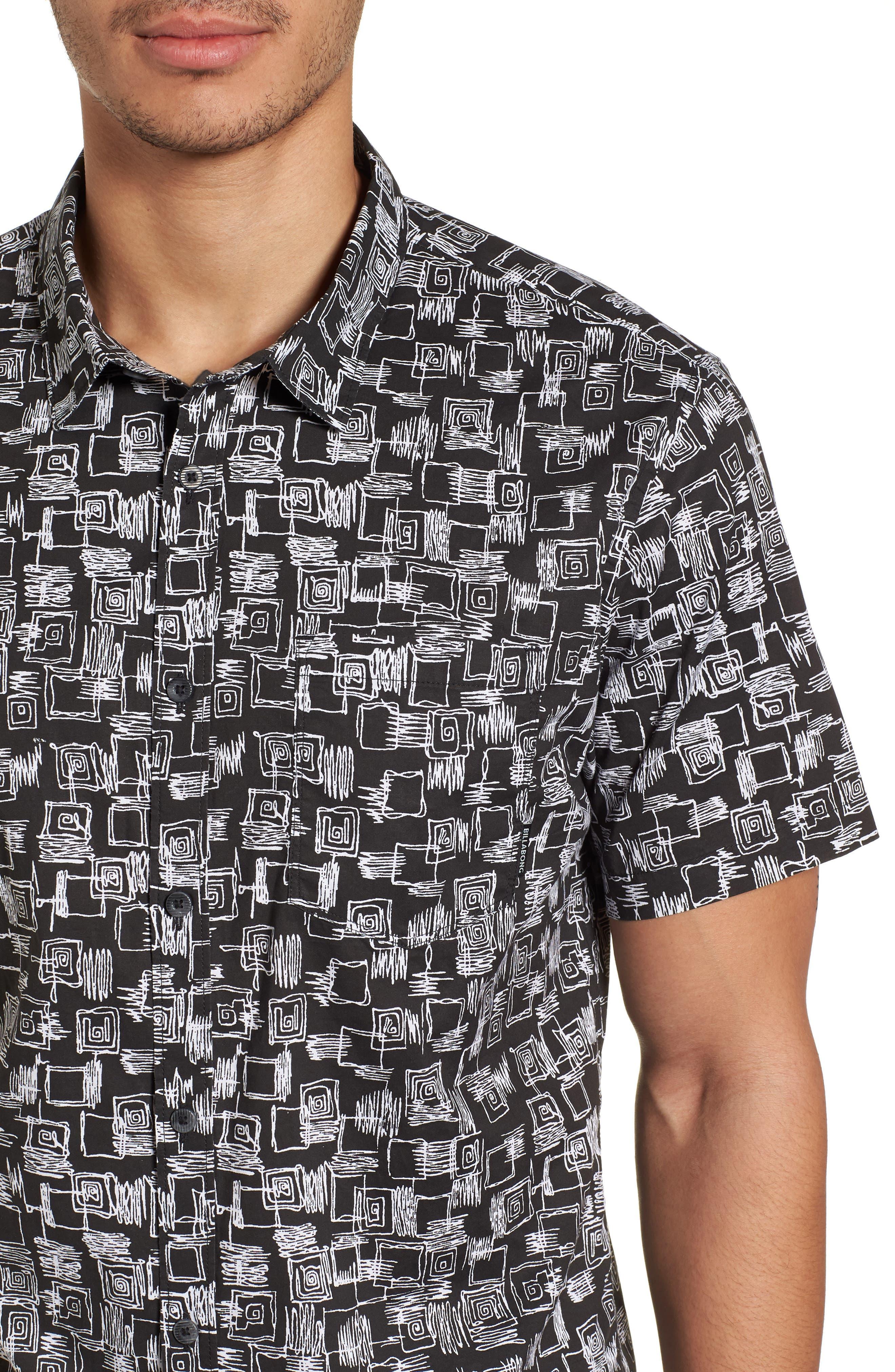 Sundays Mini Short Sleeve Shirt,                             Alternate thumbnail 4, color,                             Black