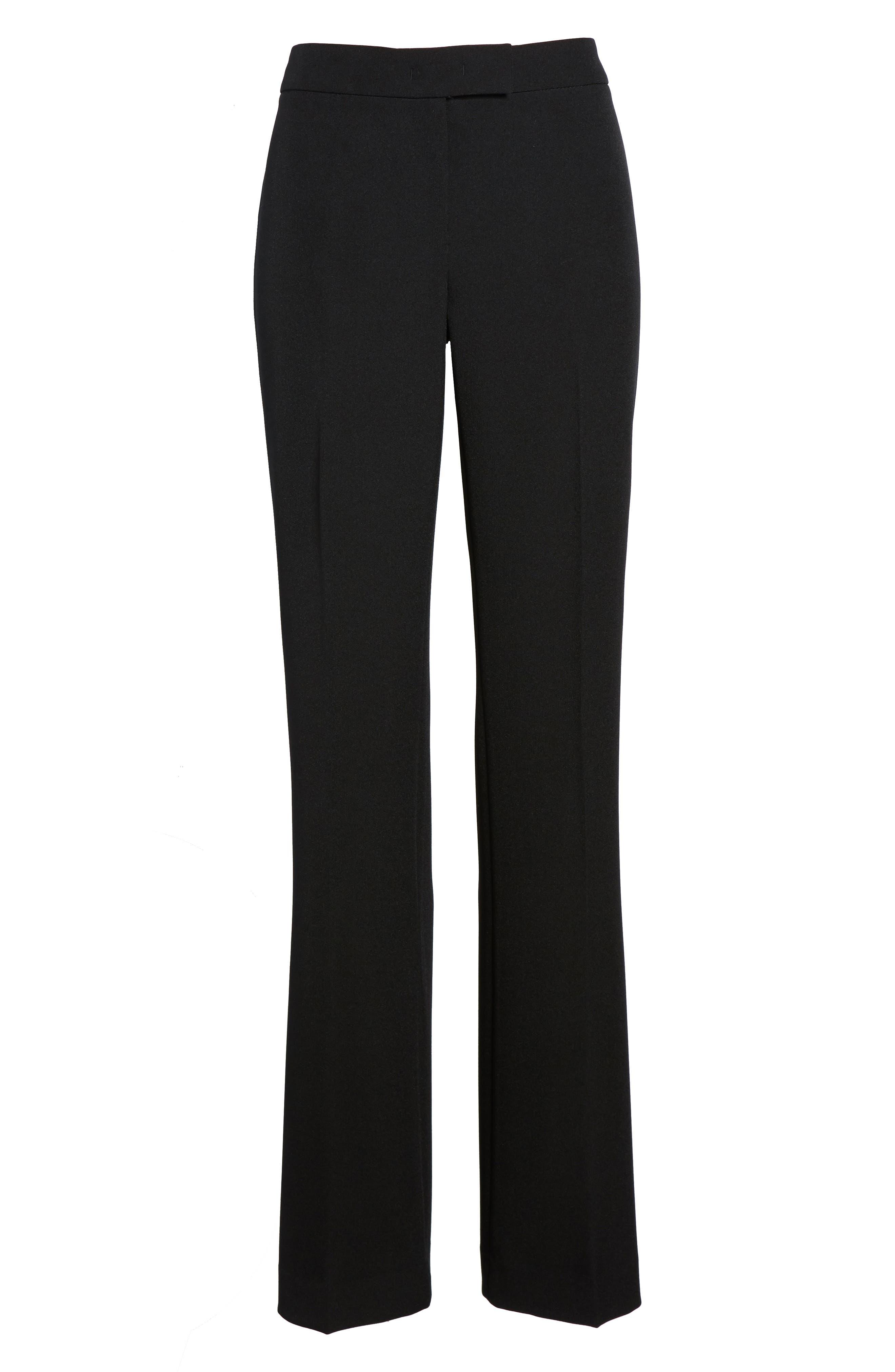 Flare Leg Pants,                             Alternate thumbnail 7, color,                             Black