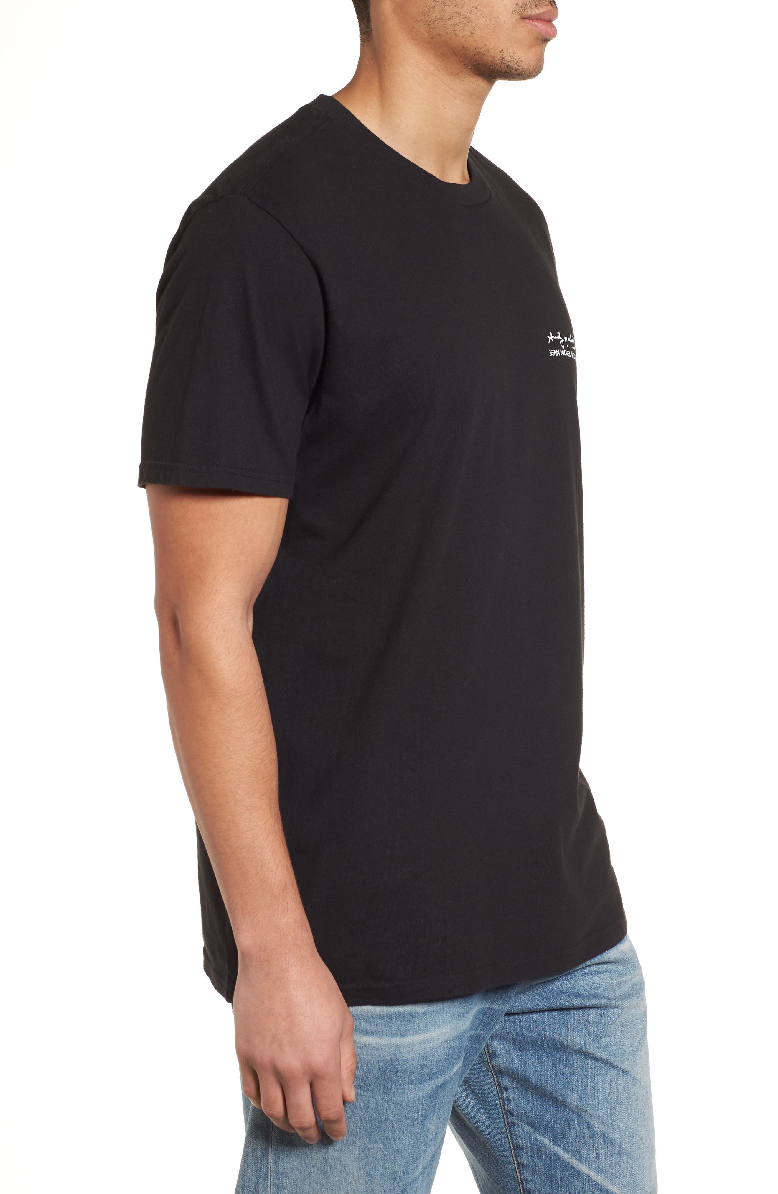 Fright Wig T-Shirt,                             Alternate thumbnail 3, color,                             Black