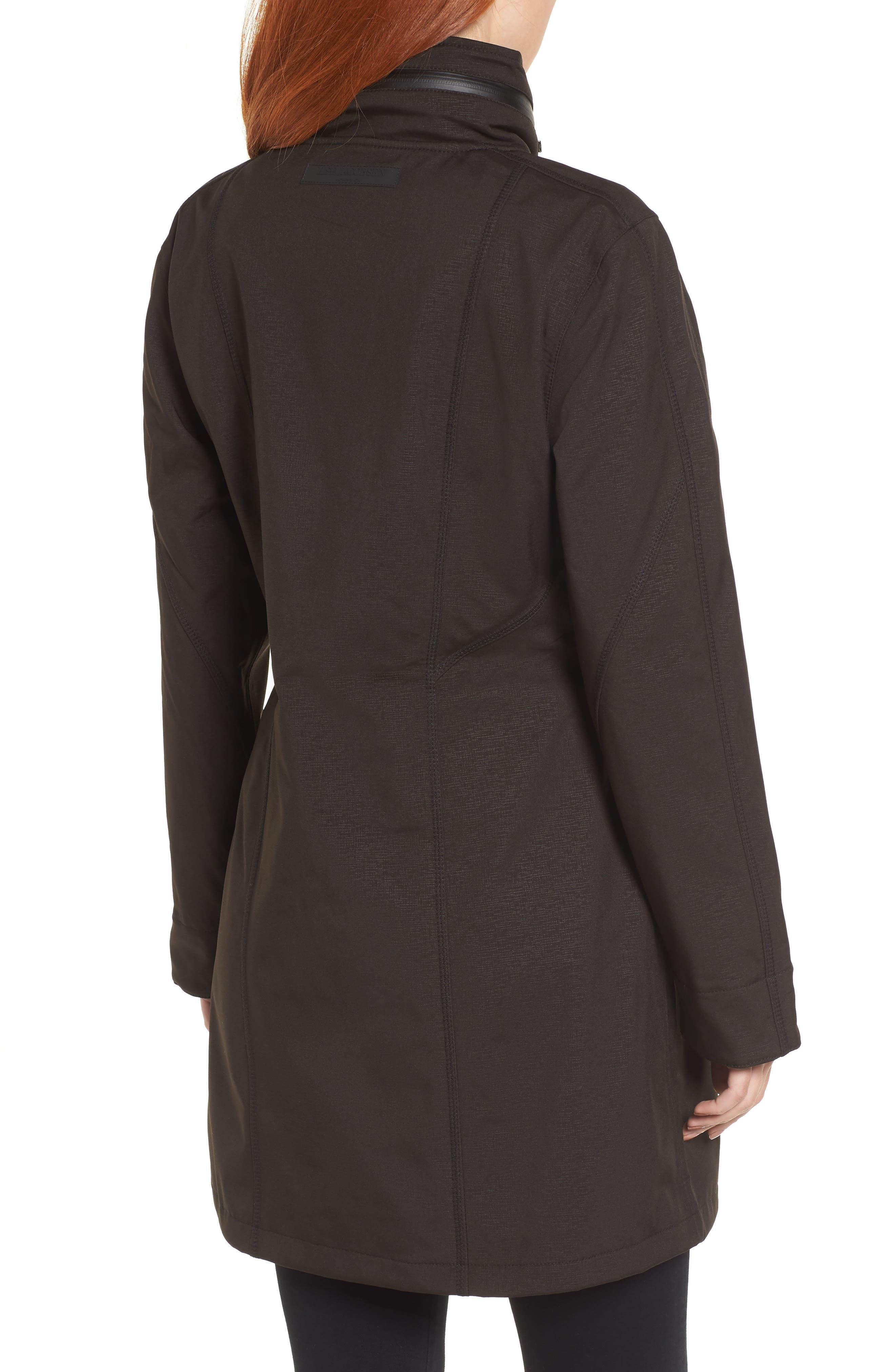 Hornbaek Soft Shell Raincoat,                             Alternate thumbnail 2, color,                             Black