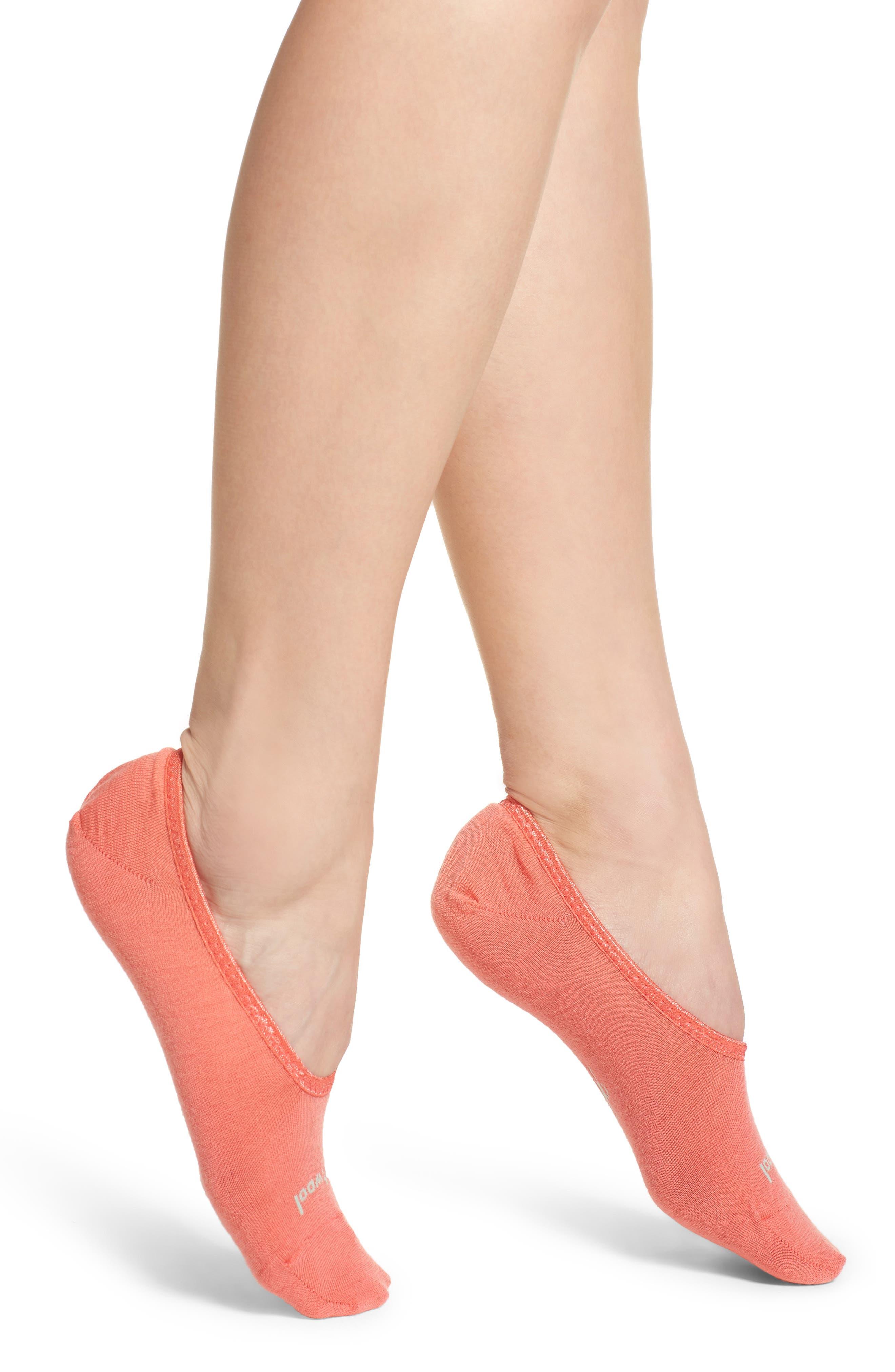 Hide & Seek No-Show Socks,                             Main thumbnail 1, color,                             Bright Coral