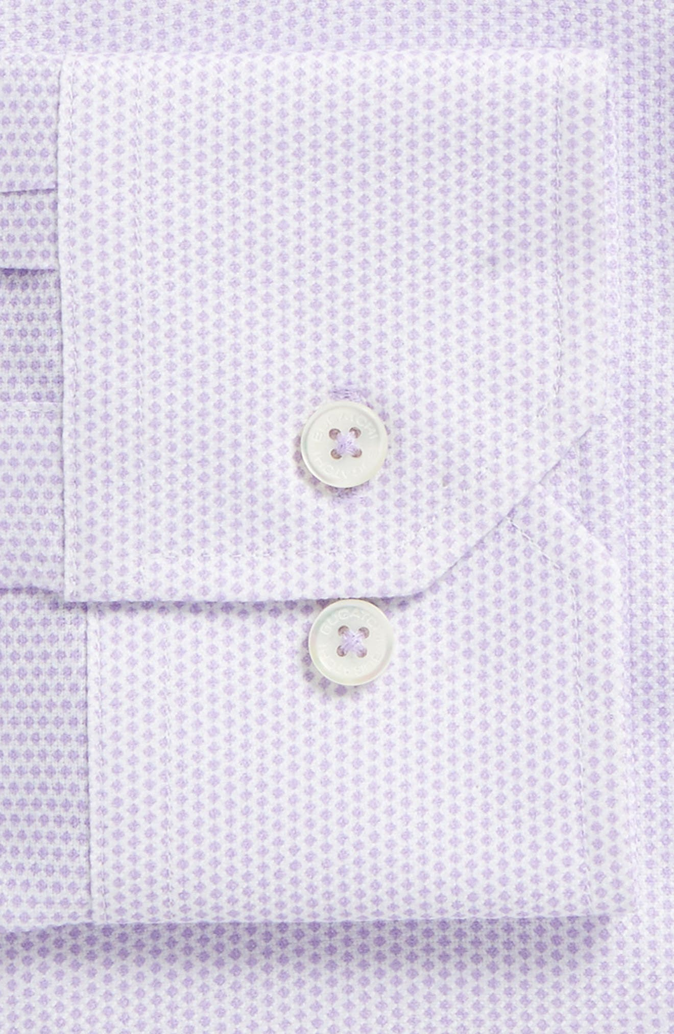 Trim Fit Geometric Dress Shirt,                             Alternate thumbnail 2, color,                             Lavender