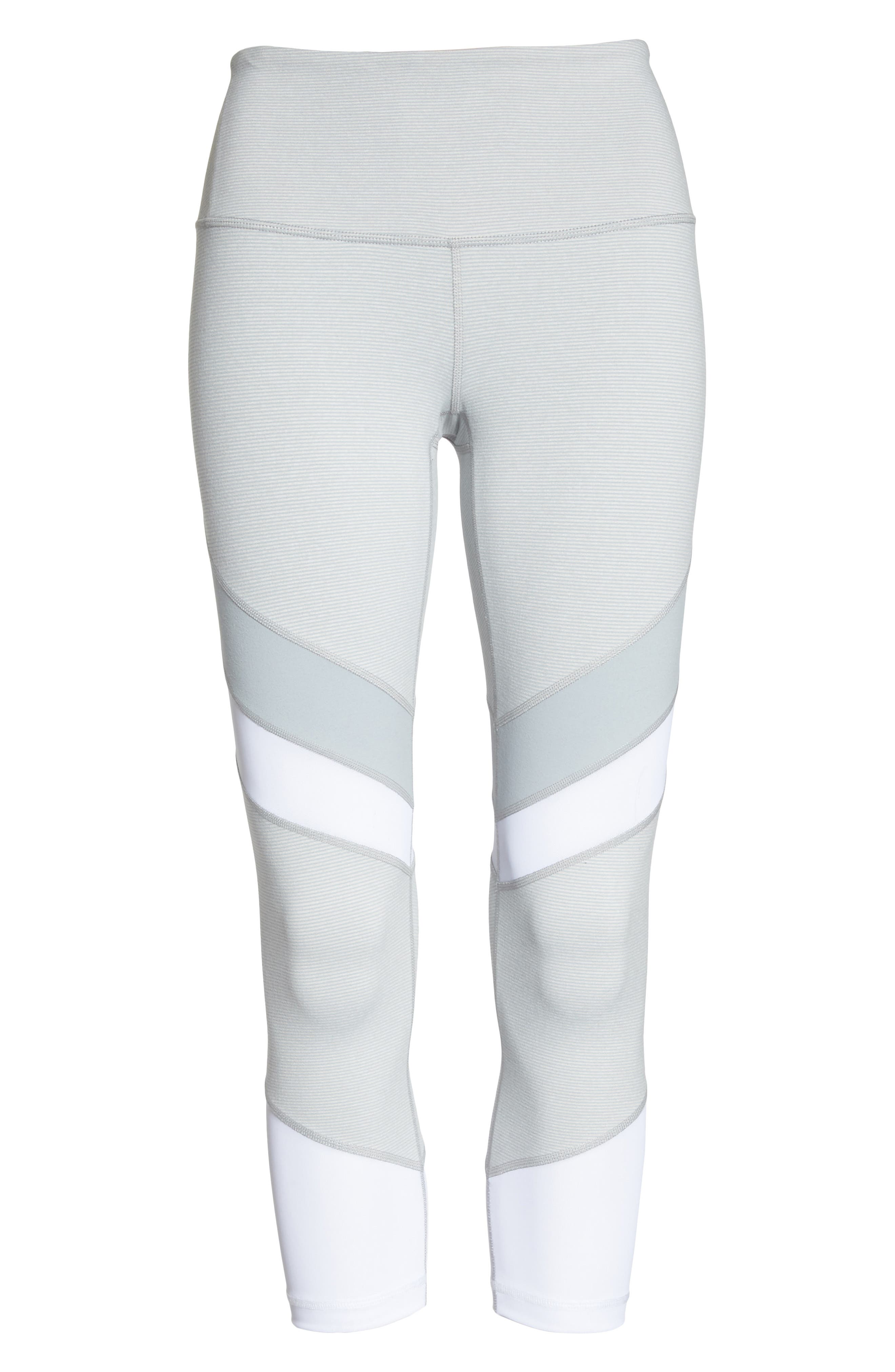 Live In Electric Mix Power Mesh Crop Leggings,                             Alternate thumbnail 7, color,                             Grey Wolf Terra