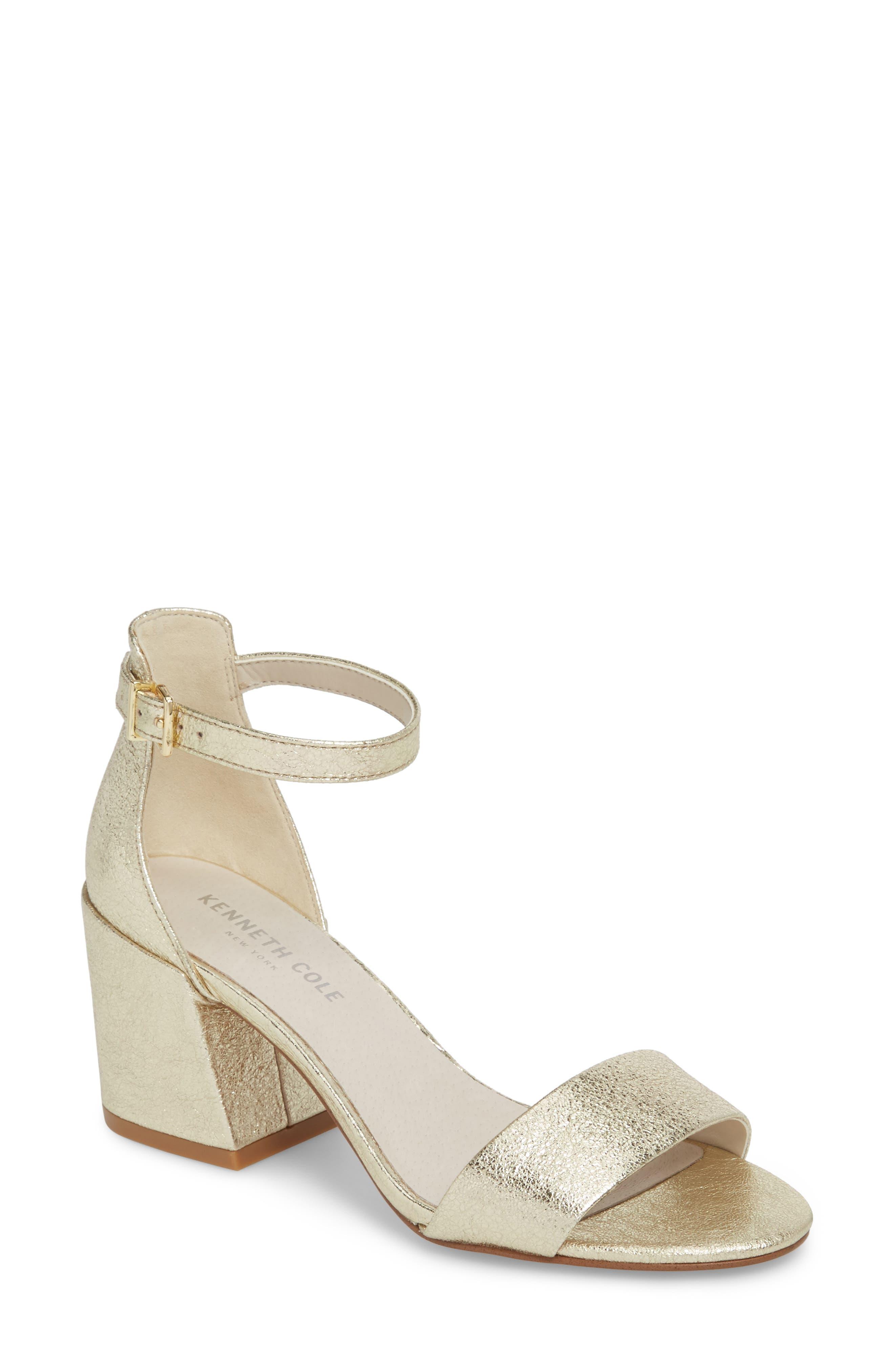 Kenneth Cole New York Hannon Block Heel Ankle Strap Sandal Women