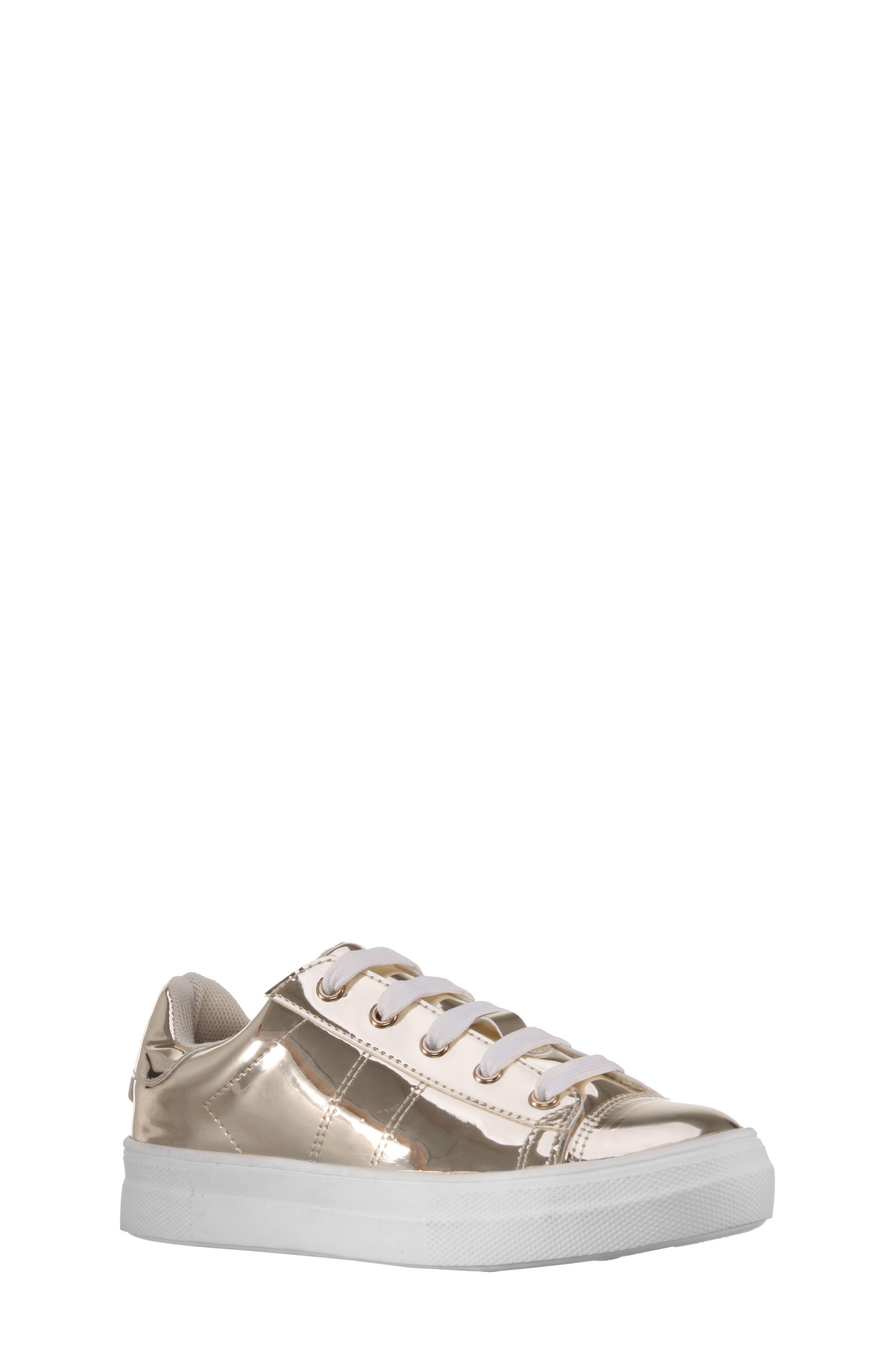 Rochella Metallic Sneaker,                             Main thumbnail 1, color,                             Platino Mirror Metallic