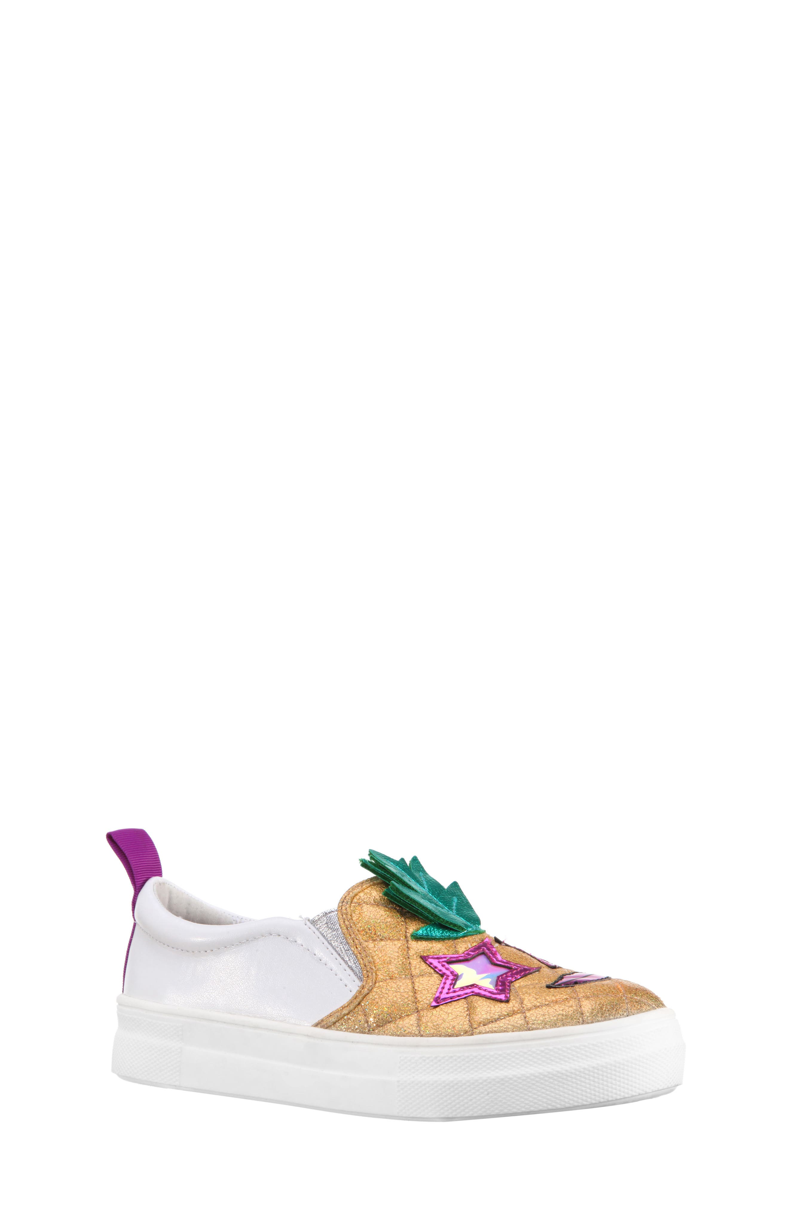 Alternate Image 1 Selected - Nina Samanntha Pineapple Slip-On Sneaker (Toddler, Little Kid & Big Kid)