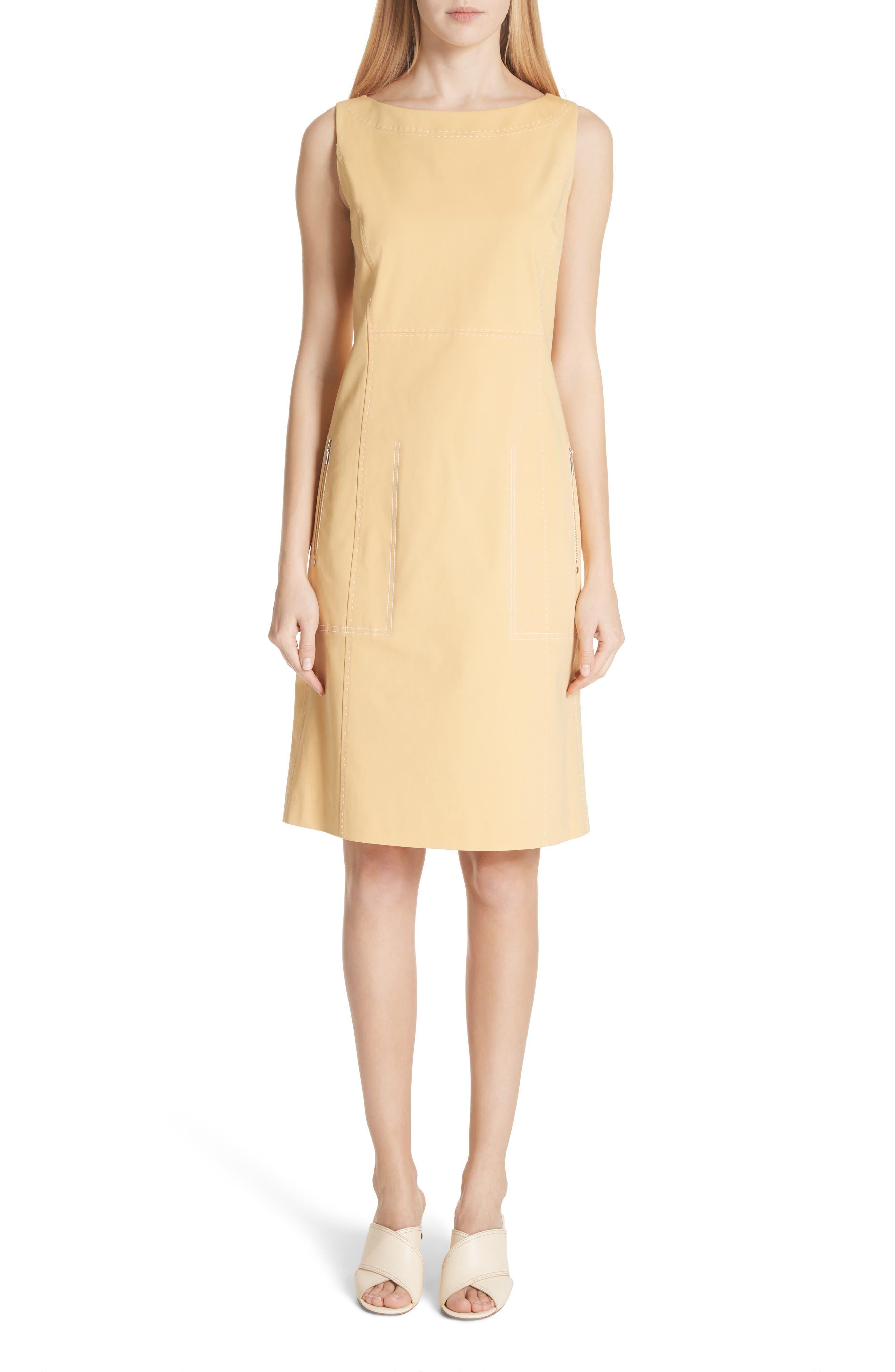 Paxton Sleeveless Sheath Dress,                         Main,                         color, Sienna Yellow