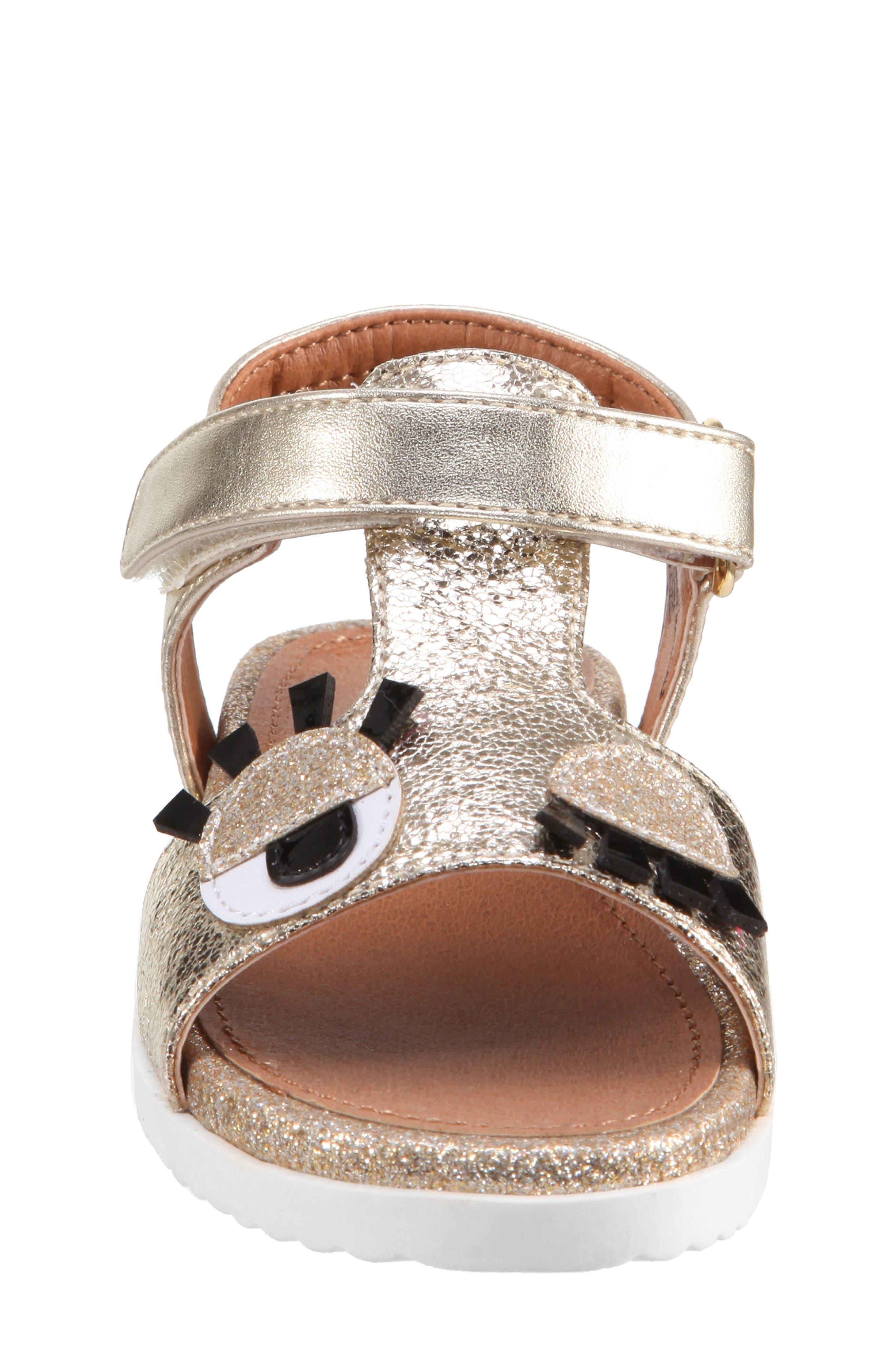 Luciella Wink Sandal,                             Alternate thumbnail 3, color,                             Platino Metallic Crackle